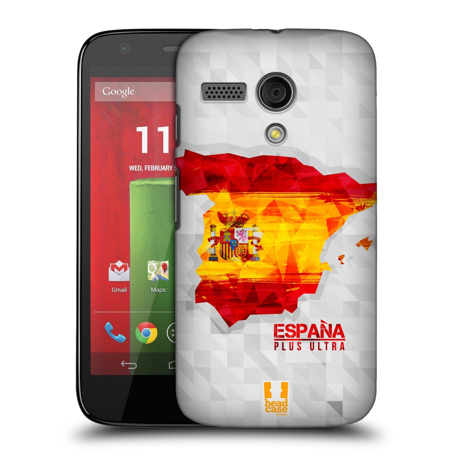 Plastové pouzdro na mobil Motorola Moto G HEAD CASE GEOMAPA ŠPANĚLSKO (Kryt či obal na mobilní telefon Motorola Moto G)