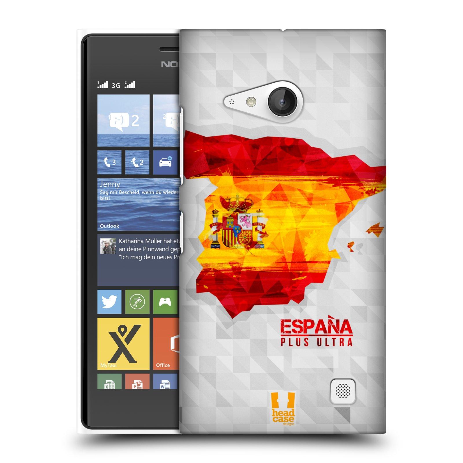 Plastové pouzdro na mobil Nokia Lumia 730 Dual SIM HEAD CASE GEOMAPA ŠPANĚLSKO (Kryt či obal na mobilní telefon Nokia Lumia 730 Dual SIM)