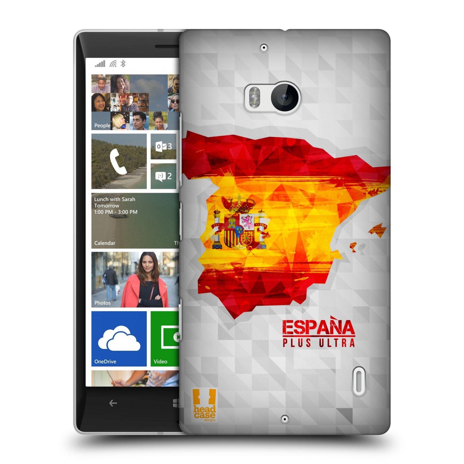 Plastové pouzdro na mobil Nokia Lumia 930 HEAD CASE GEOMAPA ŠPANĚLSKO (Kryt či obal na mobilní telefon Nokia Lumia 930)