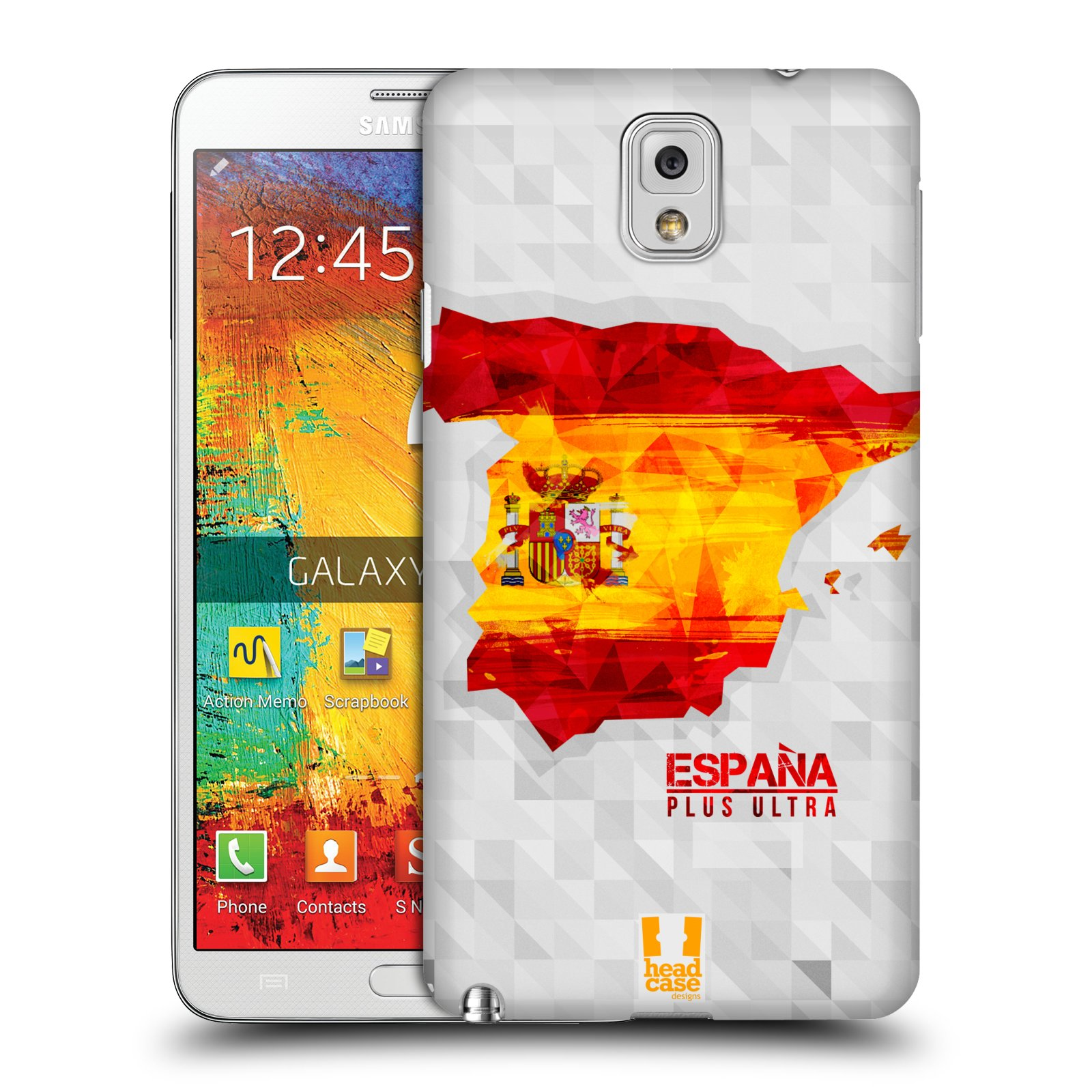 Plastové pouzdro na mobil Samsung Galaxy Note 3 HEAD CASE GEOMAPA ŠPANĚLSKO (Kryt či obal na mobilní telefon Samsung Galaxy Note 3 SM-N9005)