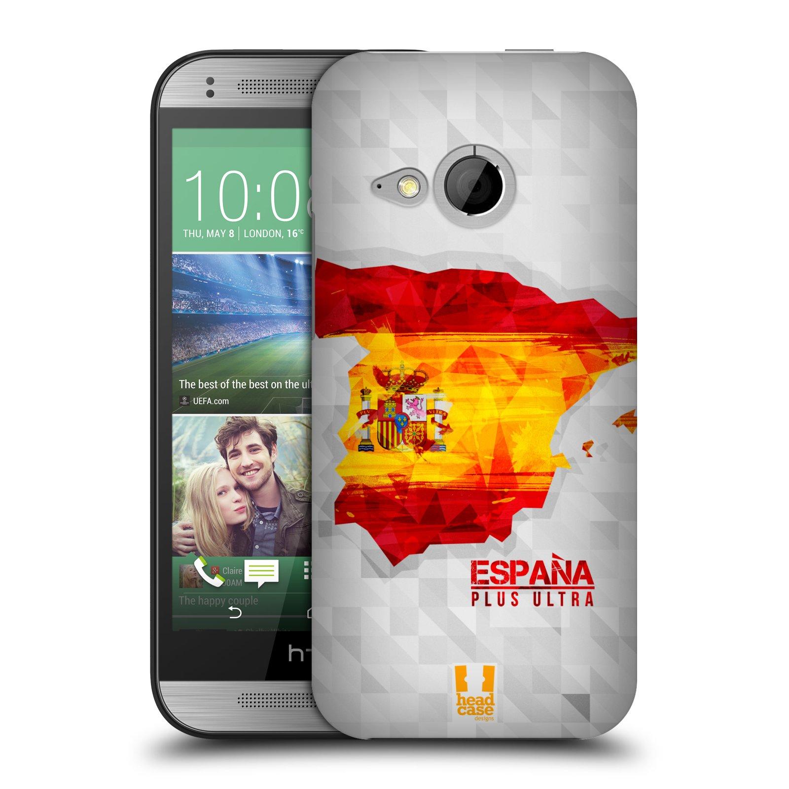 Plastové pouzdro na mobil HTC ONE Mini 2 HEAD CASE GEOMAPA ŠPANĚLSKO (Kryt či obal na mobilní telefon HTC ONE Mini 2)