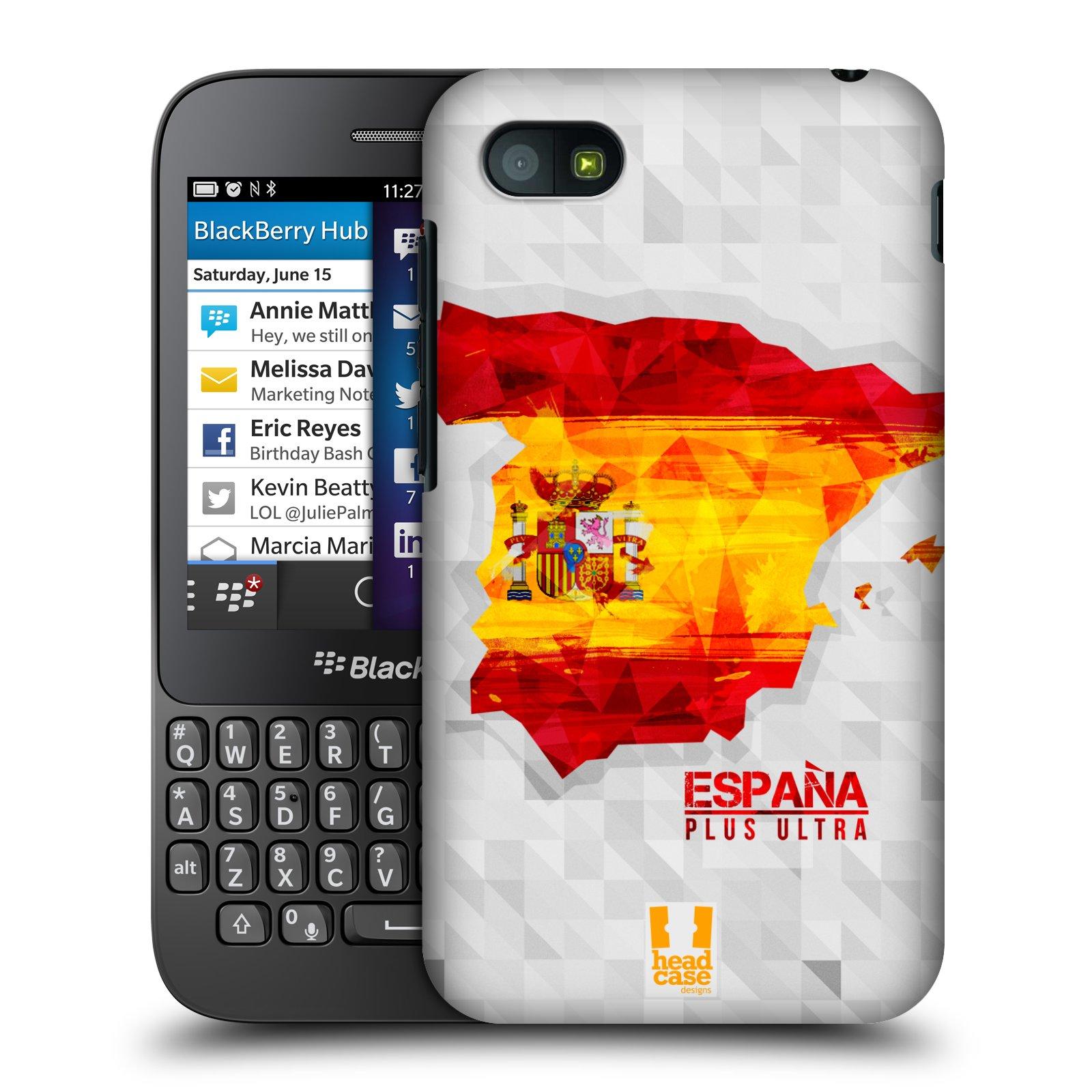 Plastové pouzdro na mobil Blackberry Q5 HEAD CASE GEOMAPA ŠPANĚLSKO (Kryt či obal na mobilní telefon Blackberry Q5)