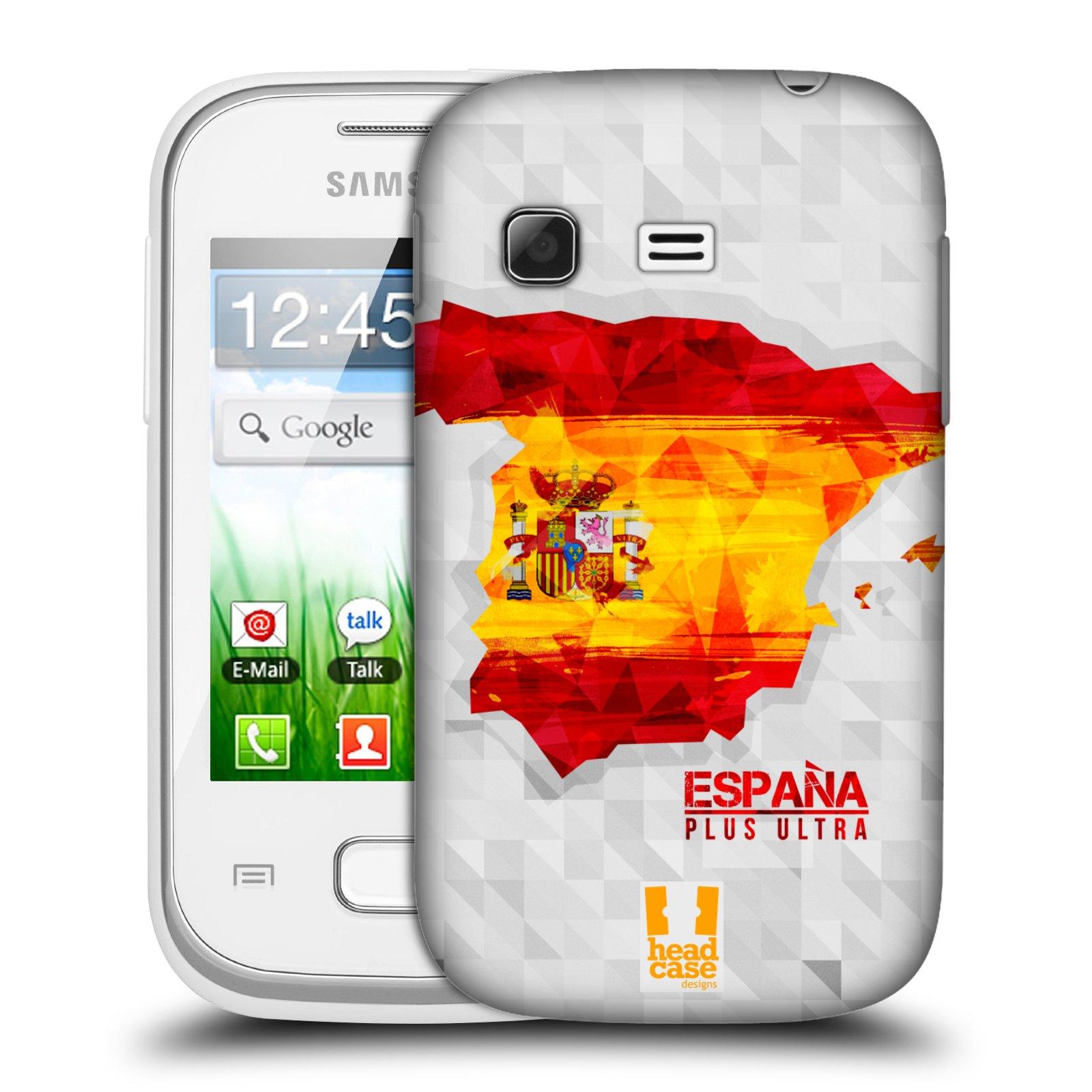 Plastové pouzdro na mobil Samsung Galaxy Pocket HEAD CASE GEOMAPA ŠPANĚLSKO (Kryt či obal na mobilní telefon Samsung Galaxy Pocket GT-S5300)