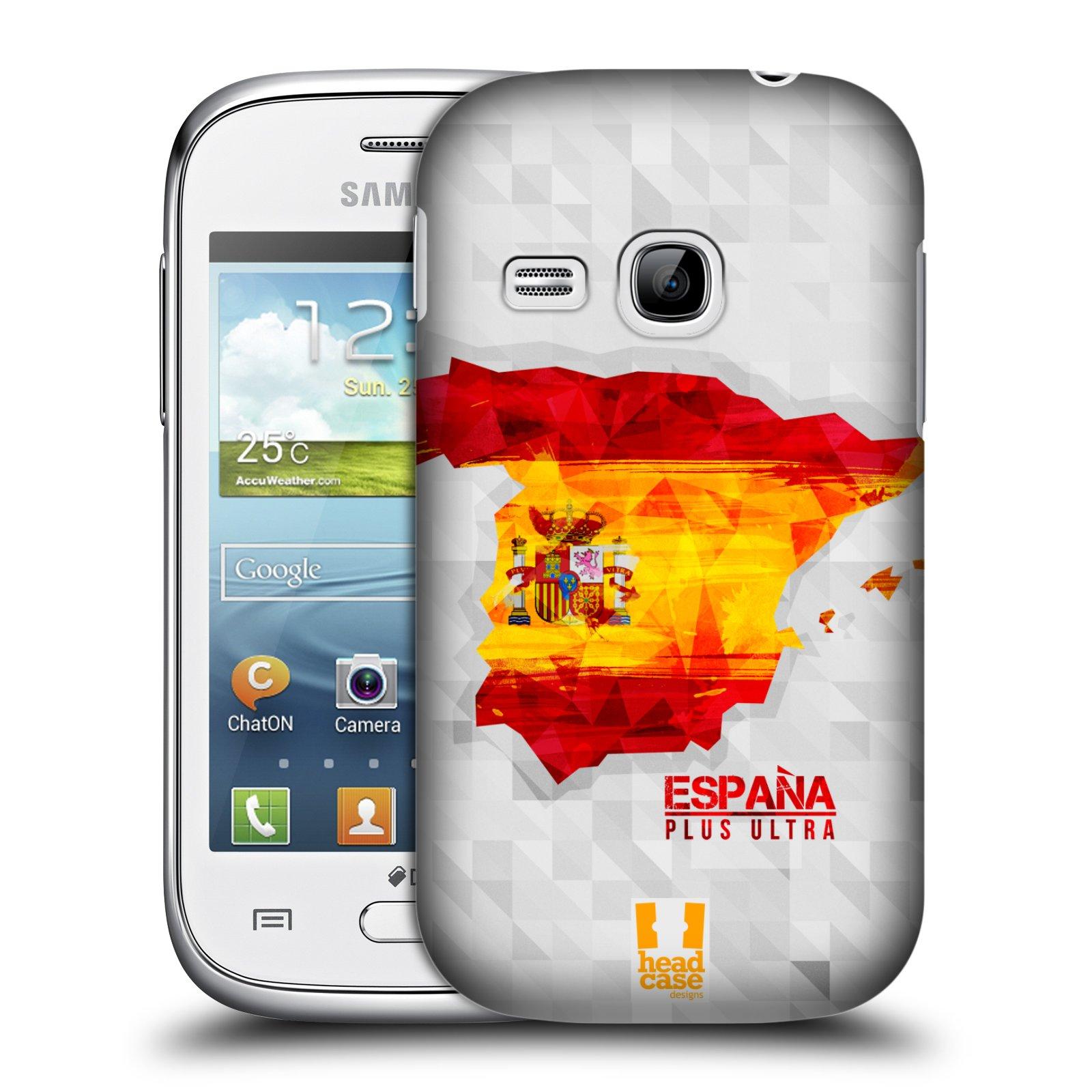Plastové pouzdro na mobil Samsung Galaxy Young HEAD CASE GEOMAPA ŠPANĚLSKO (Kryt či obal na mobilní telefon Samsung Galaxy Young GT-S6310)