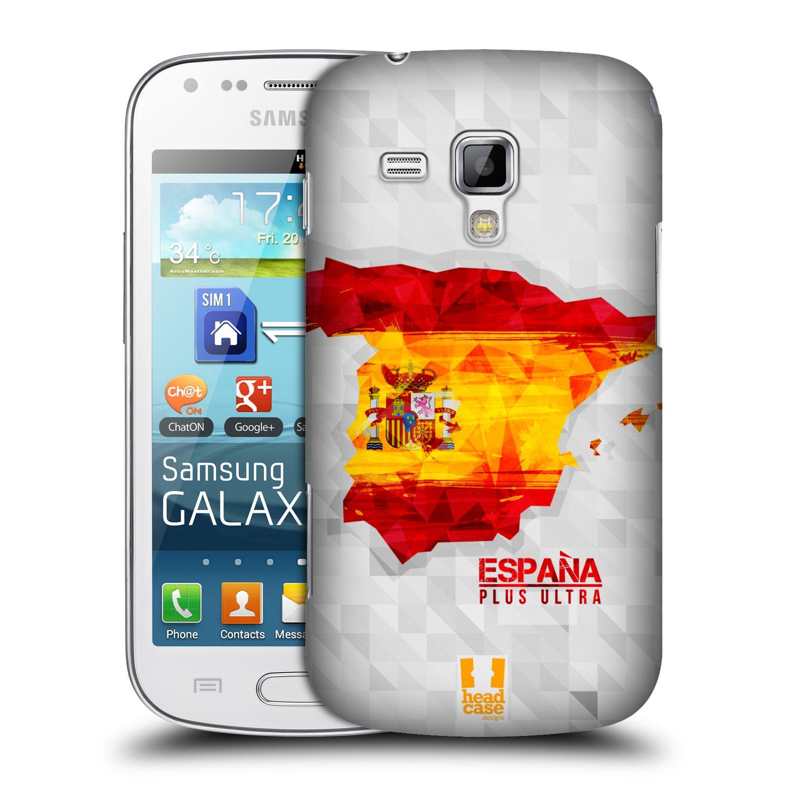 Plastové pouzdro na mobil Samsung Galaxy S Duos HEAD CASE GEOMAPA ŠPANĚLSKO (Kryt či obal na mobilní telefon Samsung Galaxy S Duos GT-S7562)