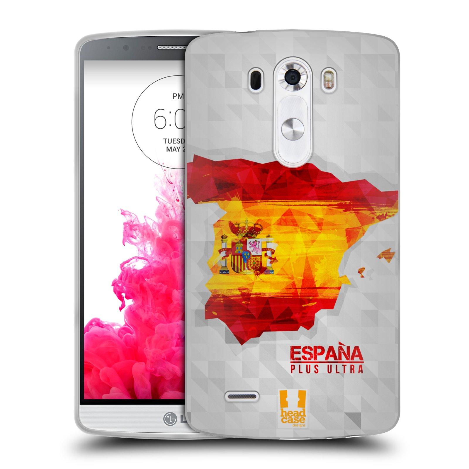 Silikonové pouzdro na mobil LG G3 HEAD CASE GEOMAPA ŠPANĚLSKO (Silikonový kryt či obal na mobilní telefon LG G3 D855)