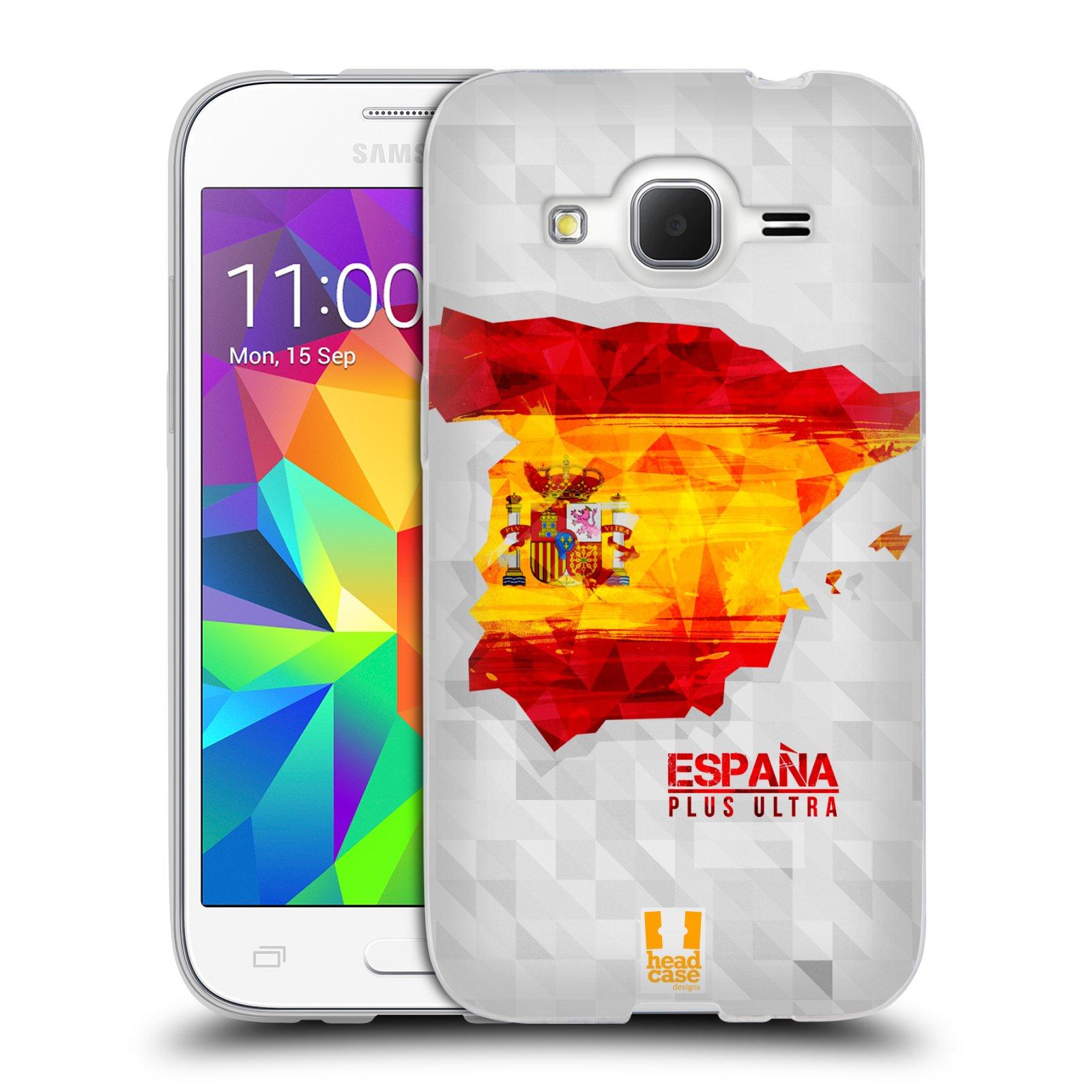 Silikonové pouzdro na mobil Samsung Galaxy Core Prime LTE HEAD CASE GEOMAPA ŠPANĚLSKO (Silikonový kryt či obal na mobilní telefon Samsung Galaxy Core Prime LTE SM-G360)