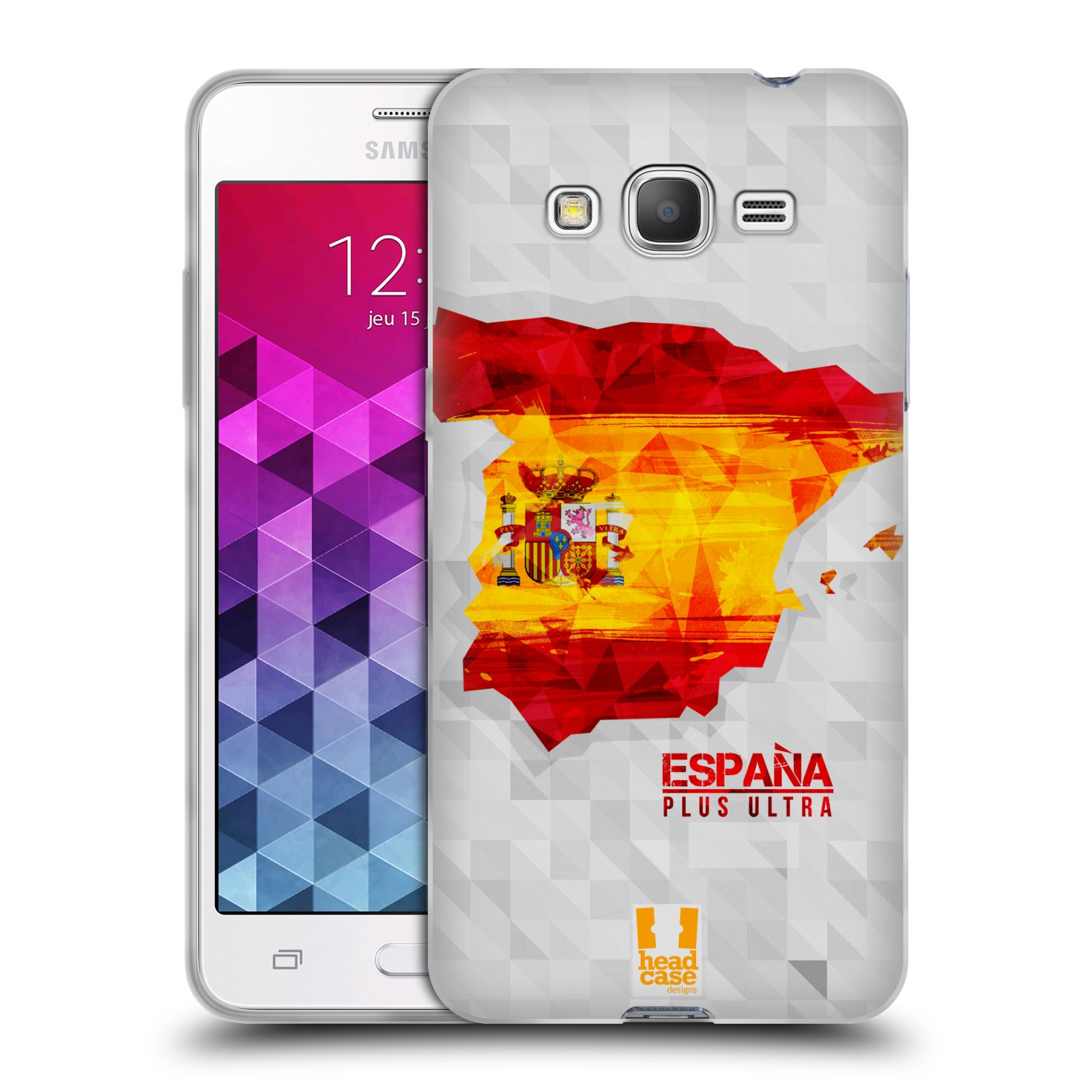 Silikonové pouzdro na mobil Samsung Galaxy Grand Prime VE HEAD CASE GEOMAPA ŠPANĚLSKO (Silikonový kryt či obal na mobilní telefon Samsung Galaxy Grand Prime VE SM-G531F)