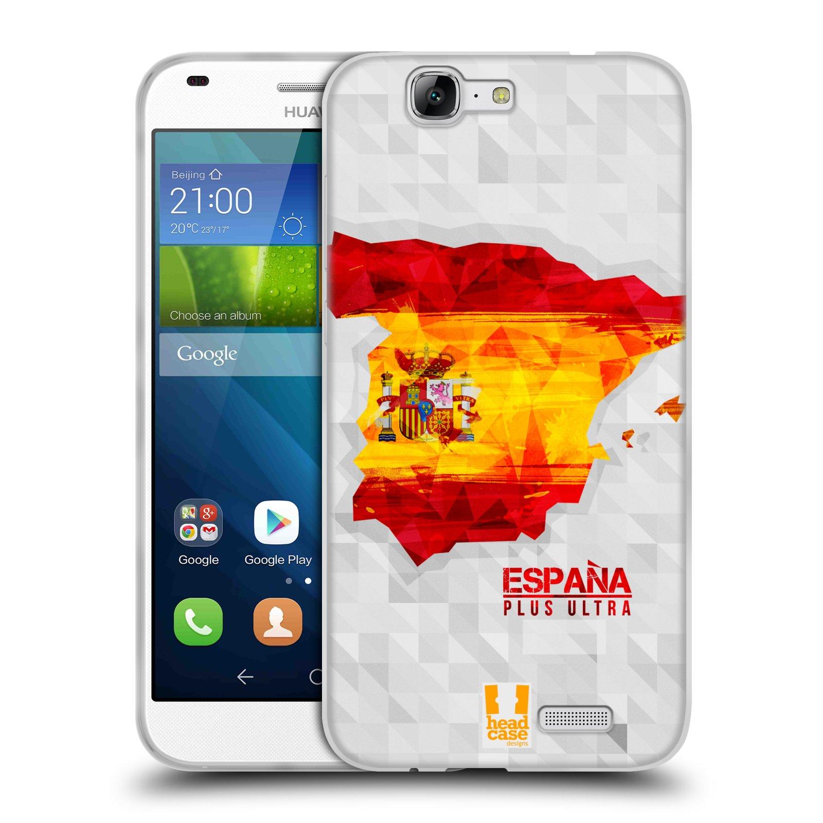 Silikonové pouzdro na mobil Huawei Ascend G7 HEAD CASE GEOMAPA ŠPANĚLSKO (Silikonový kryt či obal na mobilní telefon Huawei Ascend G7)