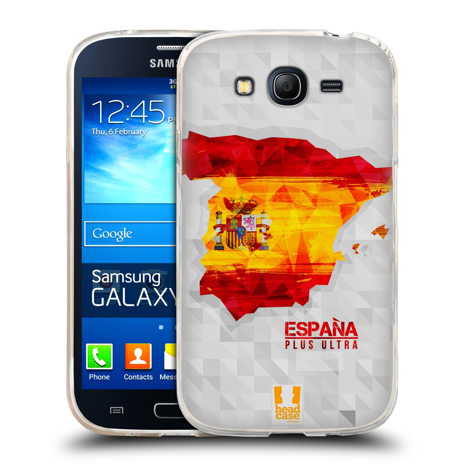 Silikonové pouzdro na mobil Samsung Galaxy Grand Neo Plus HEAD CASE GEOMAPA ŠPANĚLSKO (Silikonový kryt či obal na mobilní telefon Samsung Galaxy Grand Neo Plus Duos GT-I9060i)