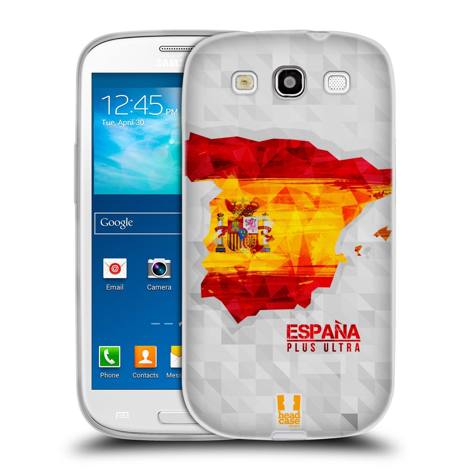 Silikonové pouzdro na mobil Samsung Galaxy S III HEAD CASE GEOMAPA ŠPANĚLSKO (Silikonový kryt či obal na mobilní telefon Samsung Galaxy S III GT-i9300)