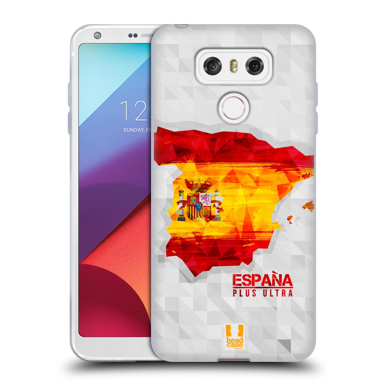Silikonové pouzdro na mobil LG G6 - Head Case GEOMAPA ŠPANĚLSKO (Silikonový kryt či obal na mobilní telefon LG G6 H870 / LG G6 Dual SIM H870DS)