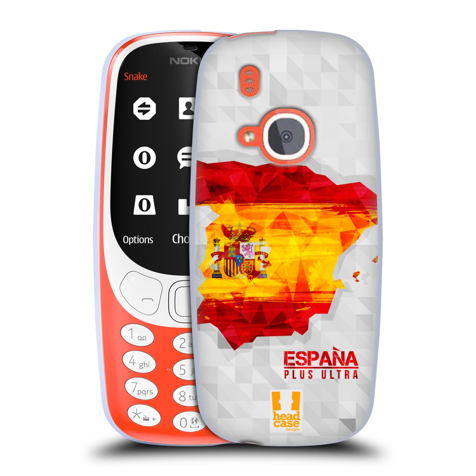 Silikonové pouzdro na mobil Nokia 3310 - Head Case - GEOMAPA ŠPANĚLSKO (Silikonový kryt či obal na mobilní telefon Nokia 3310 (2017) s motivem GEOMAPA ŠPANĚLSKO)