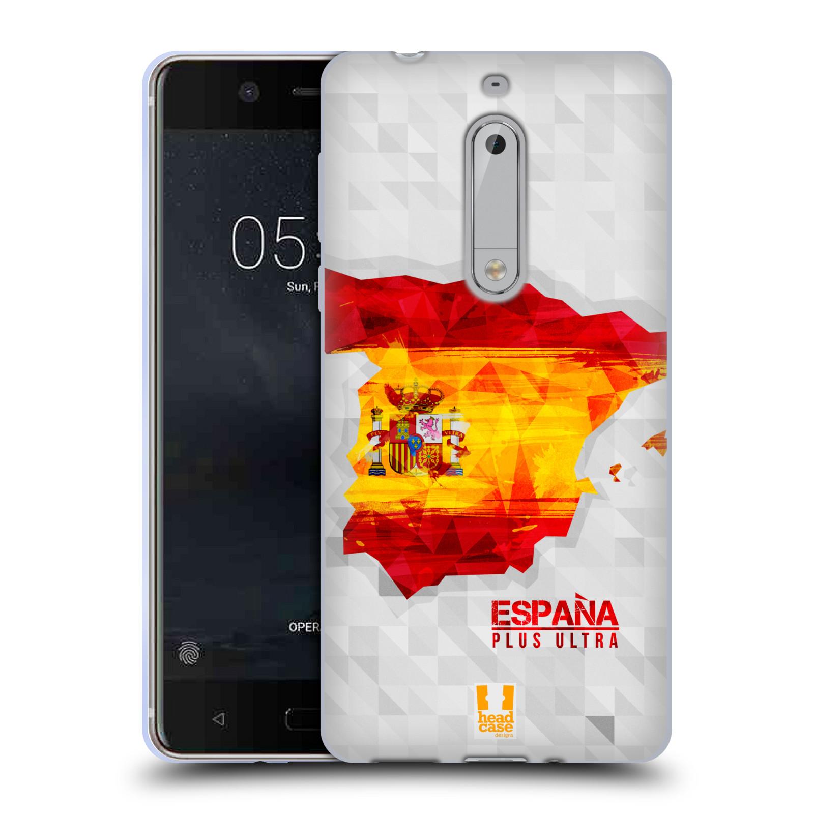 Silikonové pouzdro na mobil Nokia 5 Head Case - GEOMAPA ŠPANĚLSKO