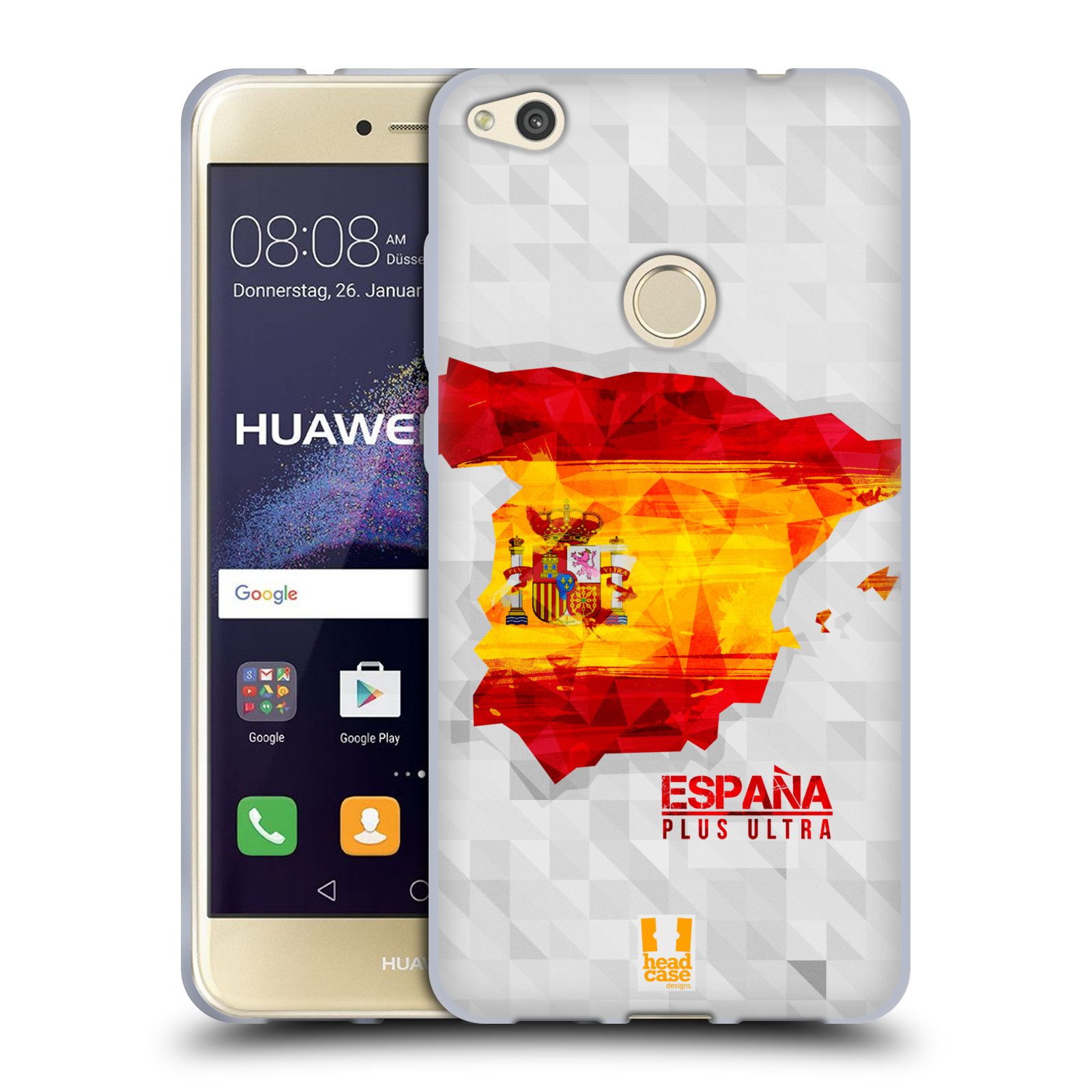 Silikonové pouzdro na mobil Huawei P9 Lite (2017) HEAD CASE GEOMAPA ŠPANĚLSKO