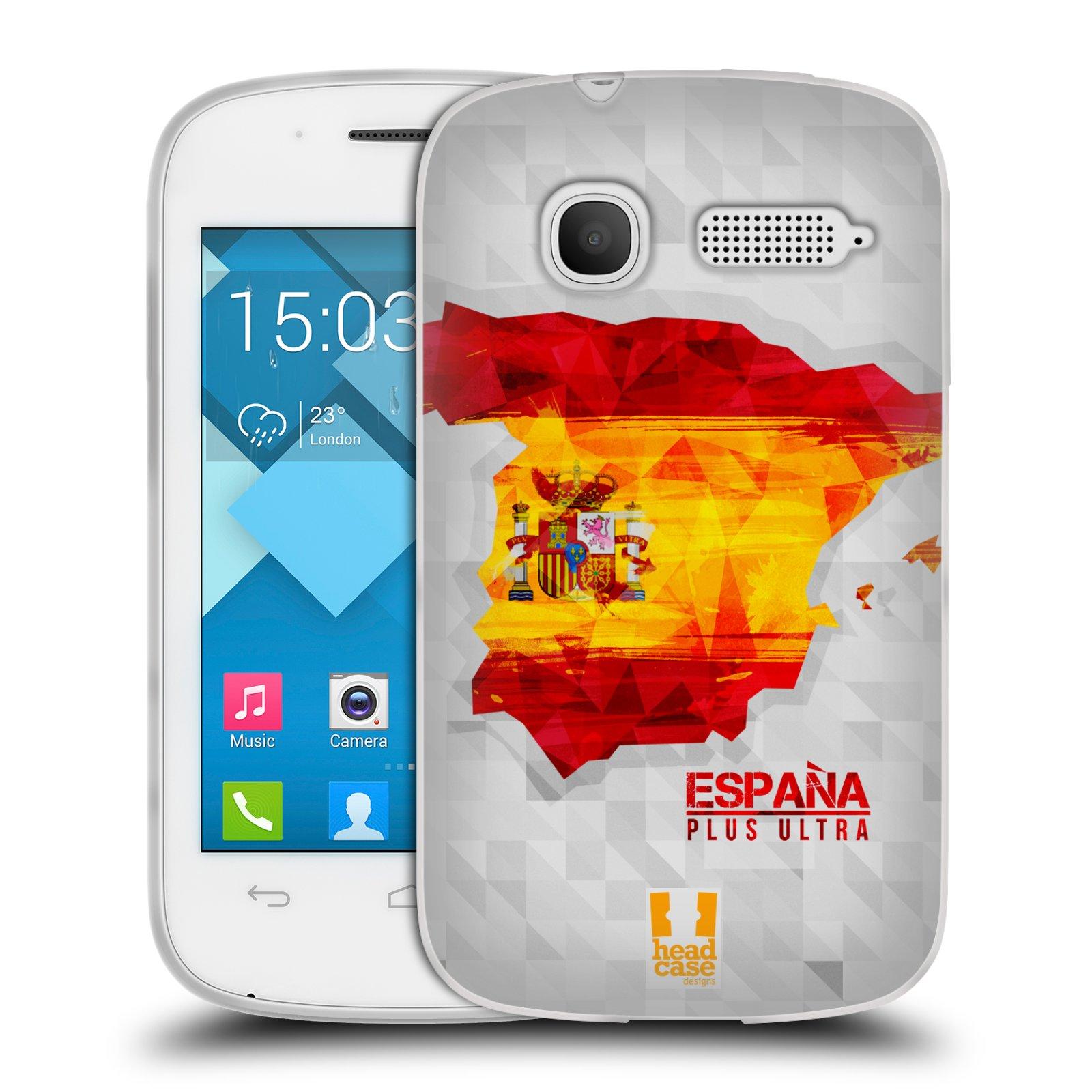 Silikonové pouzdro na mobil Alcatel One Touch Pop C1 HEAD CASE GEOMAPA ŠPANĚLSKO (Silikonový kryt či obal na mobilní telefon Alcatel OT-4015D POP C1)