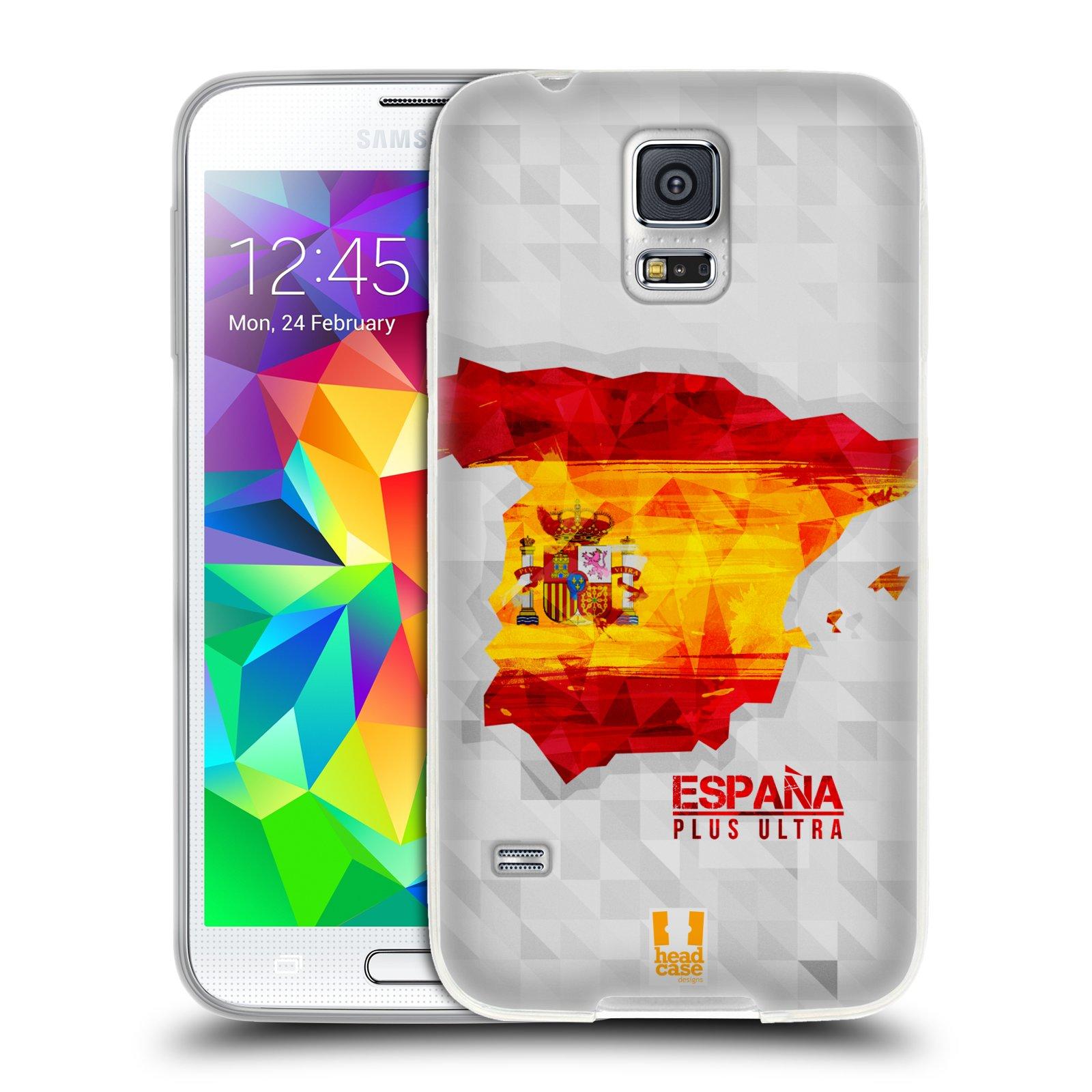 Silikonové pouzdro na mobil Samsung Galaxy S5 HEAD CASE GEOMAPA ŠPANĚLSKO (Silikonový kryt či obal na mobilní telefon Samsung Galaxy S5 SM-G900F)