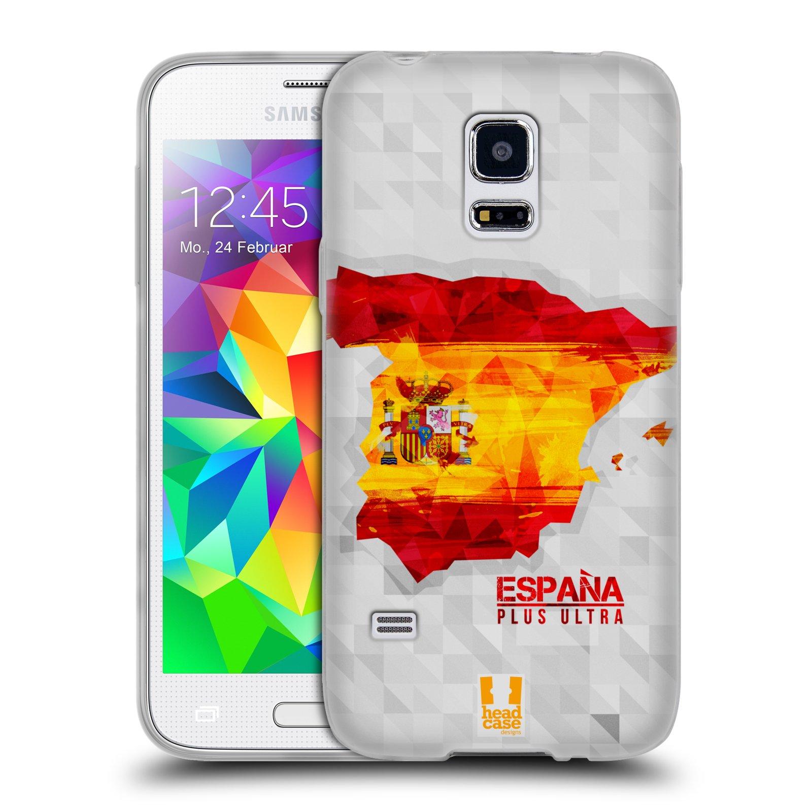 Silikonové pouzdro na mobil Samsung Galaxy S5 Mini HEAD CASE GEOMAPA ŠPANĚLSKO (Silikonový kryt či obal na mobilní telefon Samsung Galaxy S5 Mini SM-G800F)