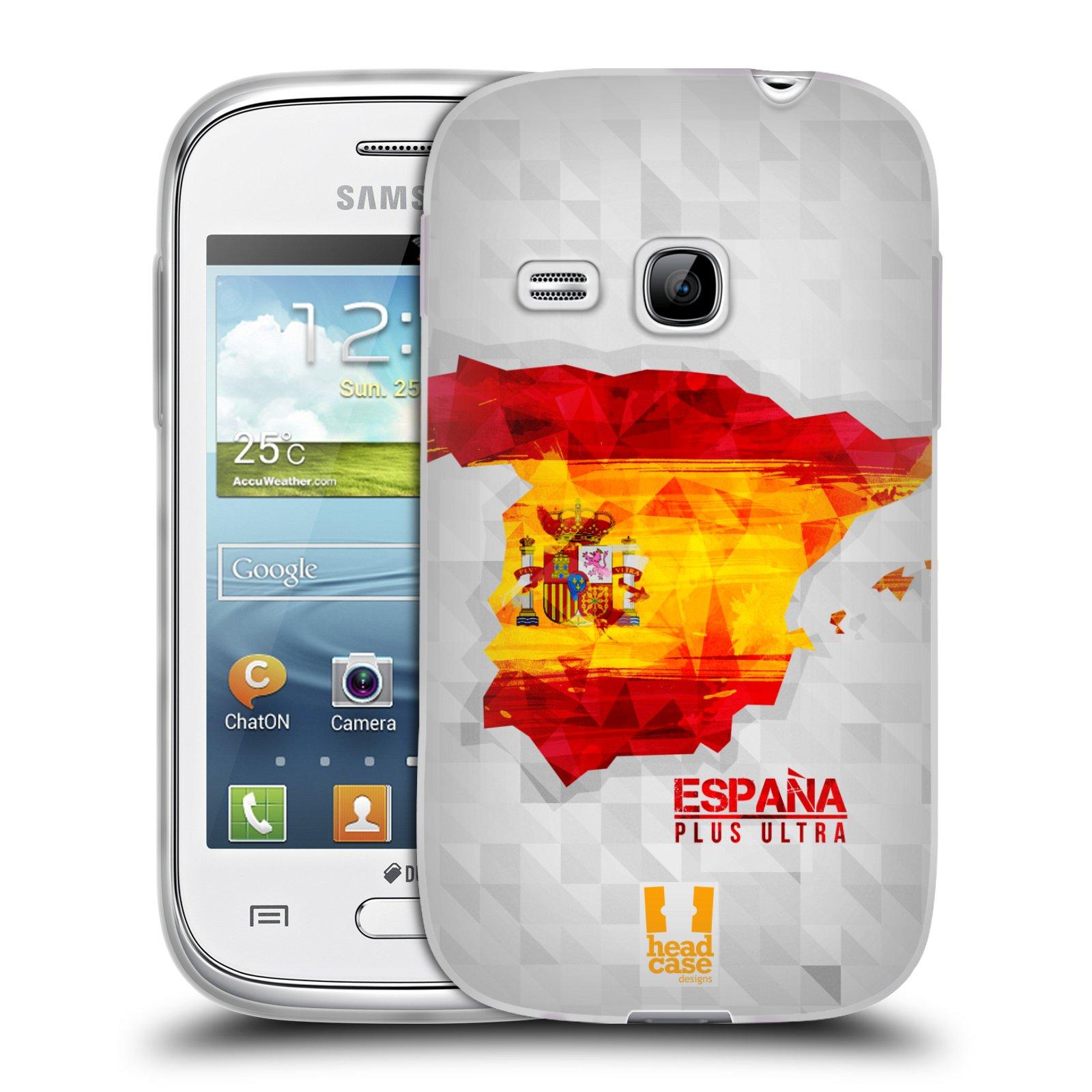 Silikonové pouzdro na mobil Samsung Galaxy Young HEAD CASE GEOMAPA ŠPANĚLSKO (Silikonový kryt či obal na mobilní telefon Samsung Galaxy Young GT-S6310)