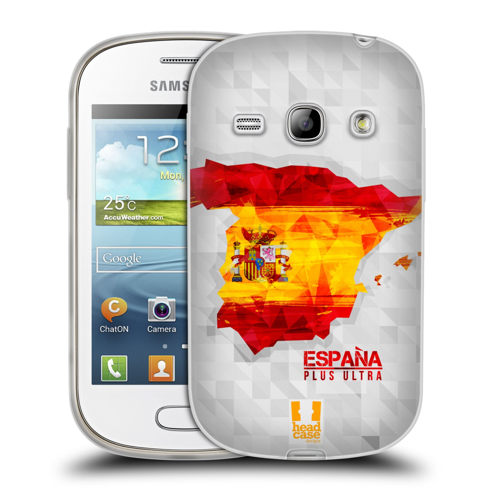 Silikonové pouzdro na mobil Samsung Galaxy Fame HEAD CASE GEOMAPA ŠPANĚLSKO (Silikonový kryt či obal na mobilní telefon Samsung Galaxy Fame GT-S6810)