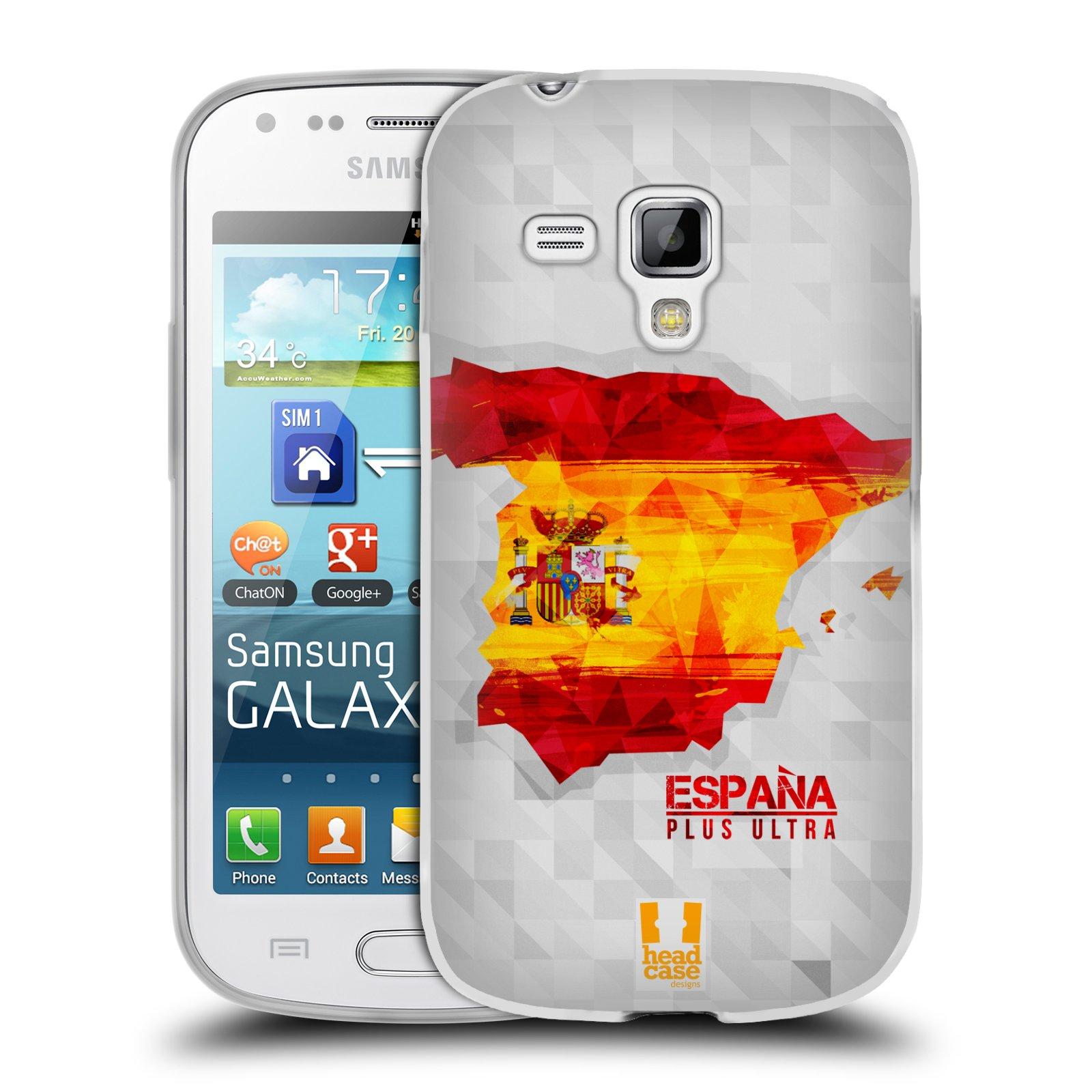 Silikonové pouzdro na mobil Samsung Galaxy Trend Plus HEAD CASE GEOMAPA ŠPANĚLSKO (Silikonový kryt či obal na mobilní telefon Samsung Galaxy Trend Plus GT-S7580)