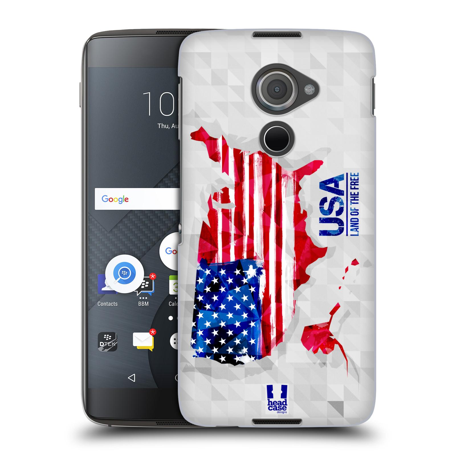 Plastové pouzdro na mobil Blackberry DTEK60 (Argon) - Head Case GEOMAPA USA (Plastový kryt či obal na mobilní telefon Blackberry DTEK60 (Argon))
