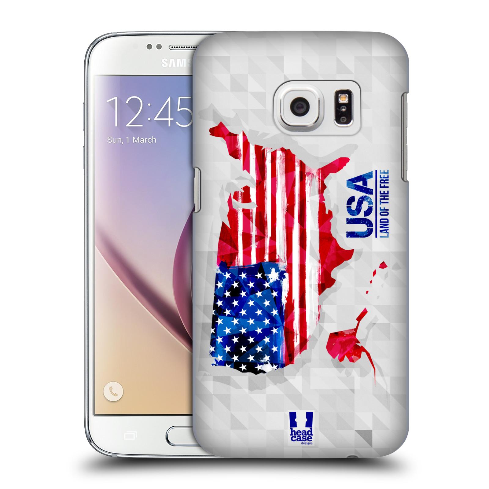 Plastové pouzdro na mobil Samsung Galaxy S7 HEAD CASE GEOMAPA USA (Kryt či obal na mobilní telefon Samsung Galaxy S7 SM-G930F)