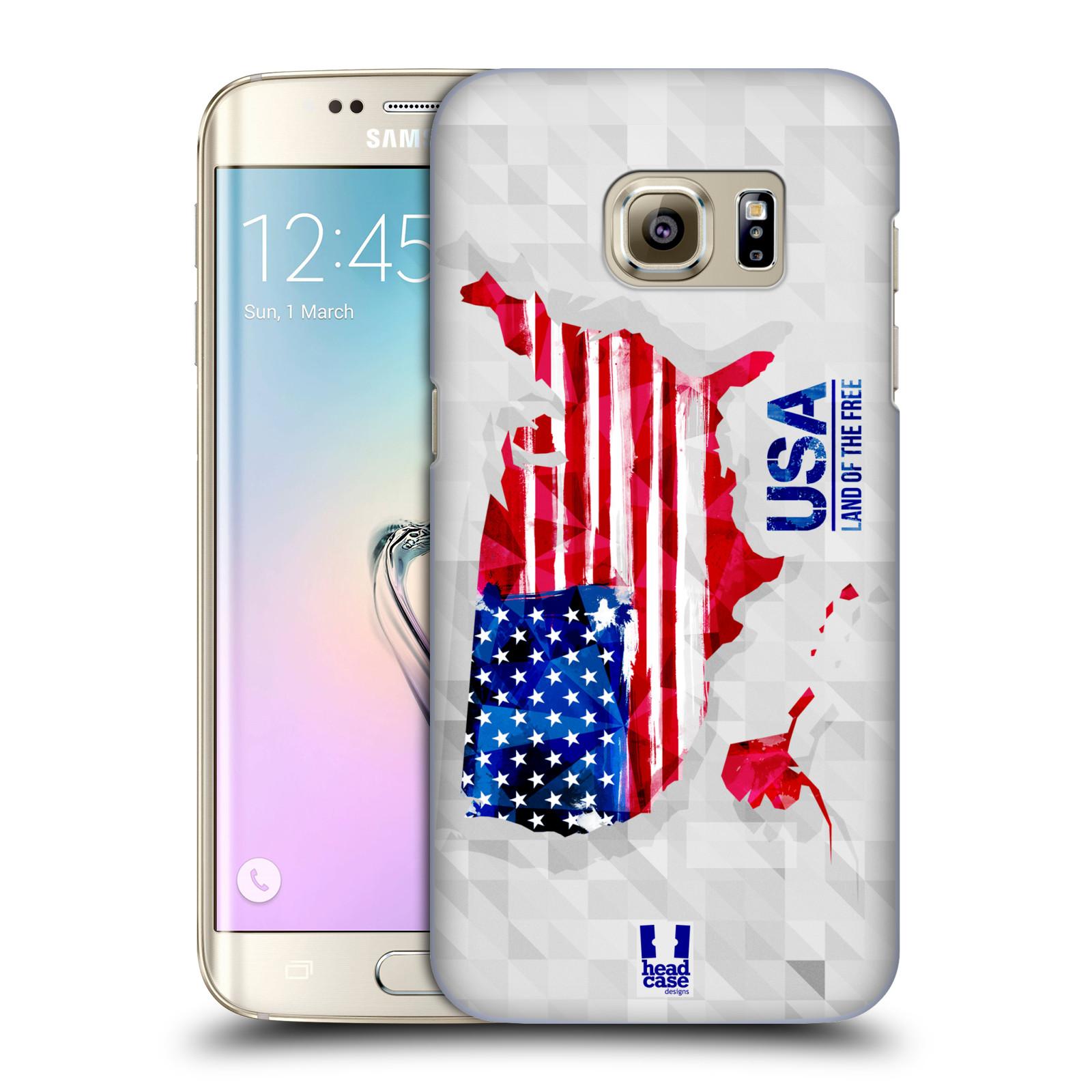 Plastové pouzdro na mobil Samsung Galaxy S7 Edge HEAD CASE GEOMAPA USA (Kryt či obal na mobilní telefon Samsung Galaxy S7 Edge SM-G935F)