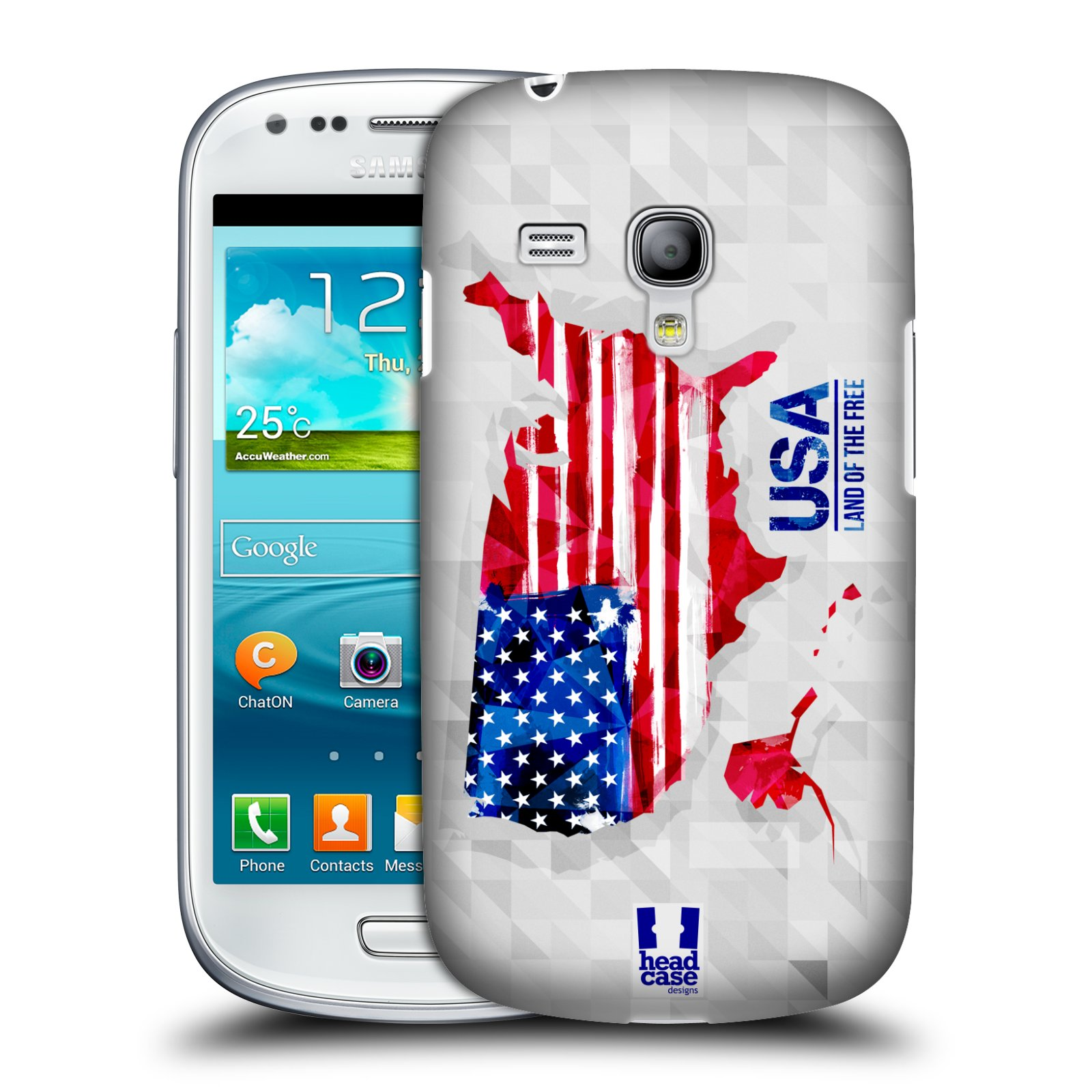 Plastové pouzdro na mobil Samsung Galaxy S III Mini HEAD CASE GEOMAPA USA (Kryt či obal na mobilní telefon Samsung Galaxy S III Mini GT-i8190)