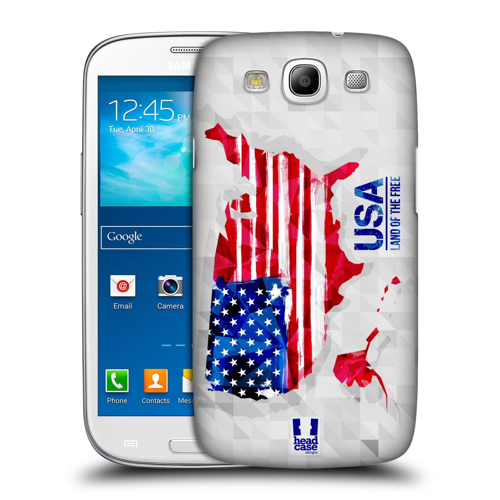 Plastové pouzdro na mobil Samsung Galaxy S3 Neo HEAD CASE GEOMAPA USA