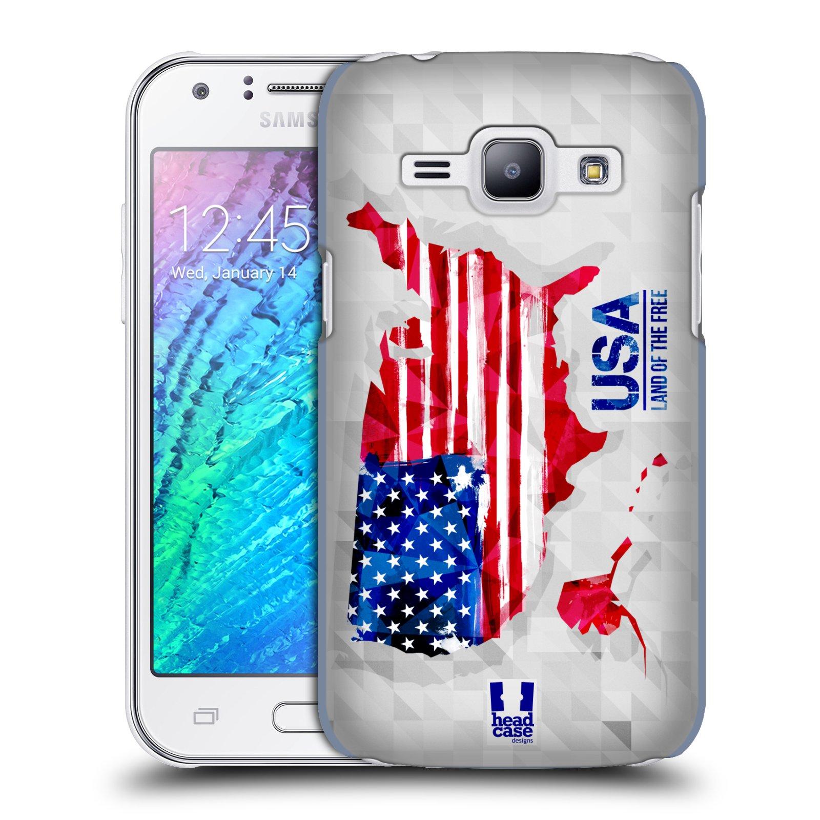 Plastové pouzdro na mobil Samsung Galaxy J1 HEAD CASE GEOMAPA USA (Kryt či obal na mobilní telefon Samsung Galaxy J1 a J1 Duos )