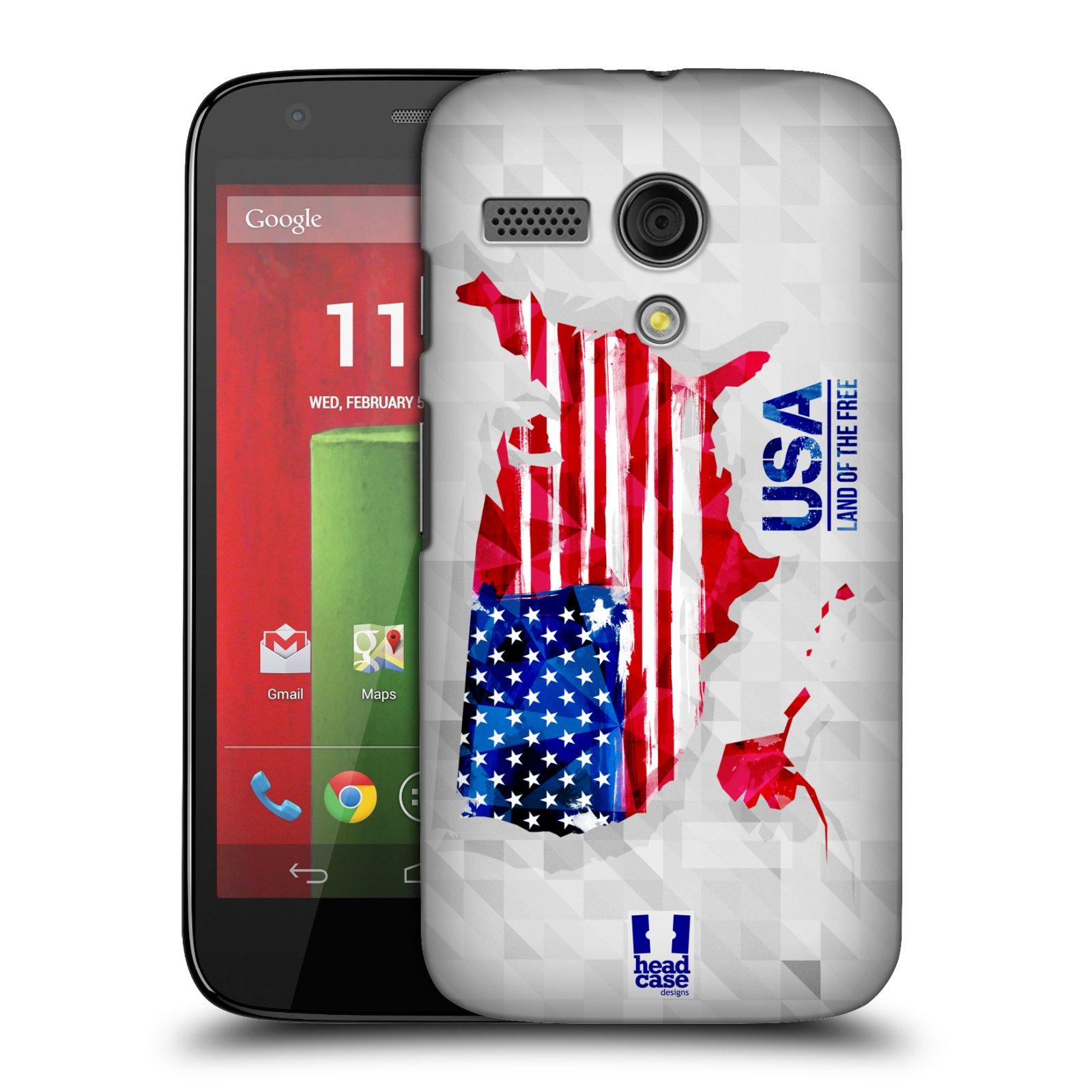 Plastové pouzdro na mobil Motorola Moto G HEAD CASE GEOMAPA USA (Kryt či obal na mobilní telefon Motorola Moto G)
