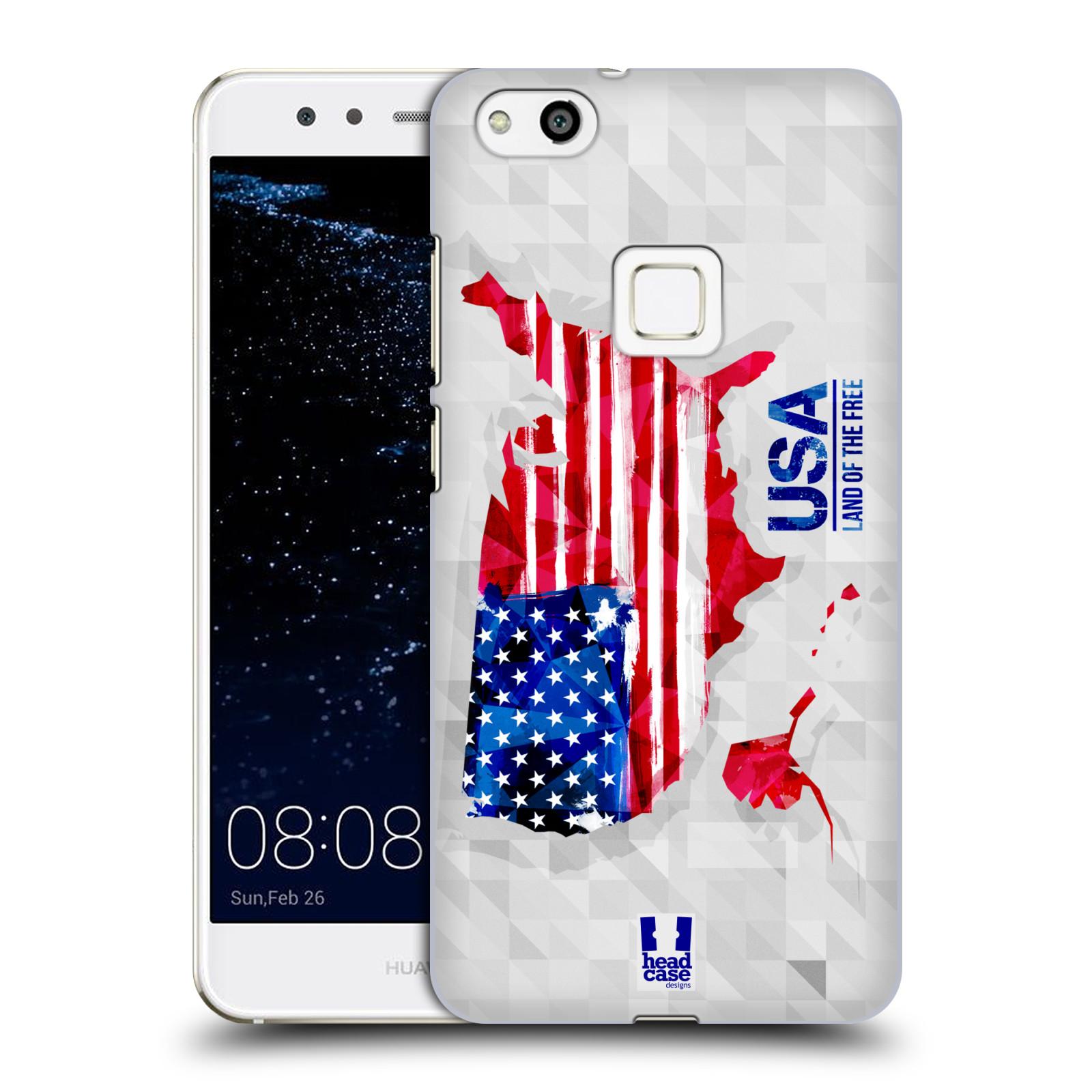 Plastové pouzdro na mobil Huawei P10 Lite Head Case - GEOMAPA USA (Plastový kryt či obal na mobilní telefon Huawei P10 Lite Dual SIM (LX1/LX1A))
