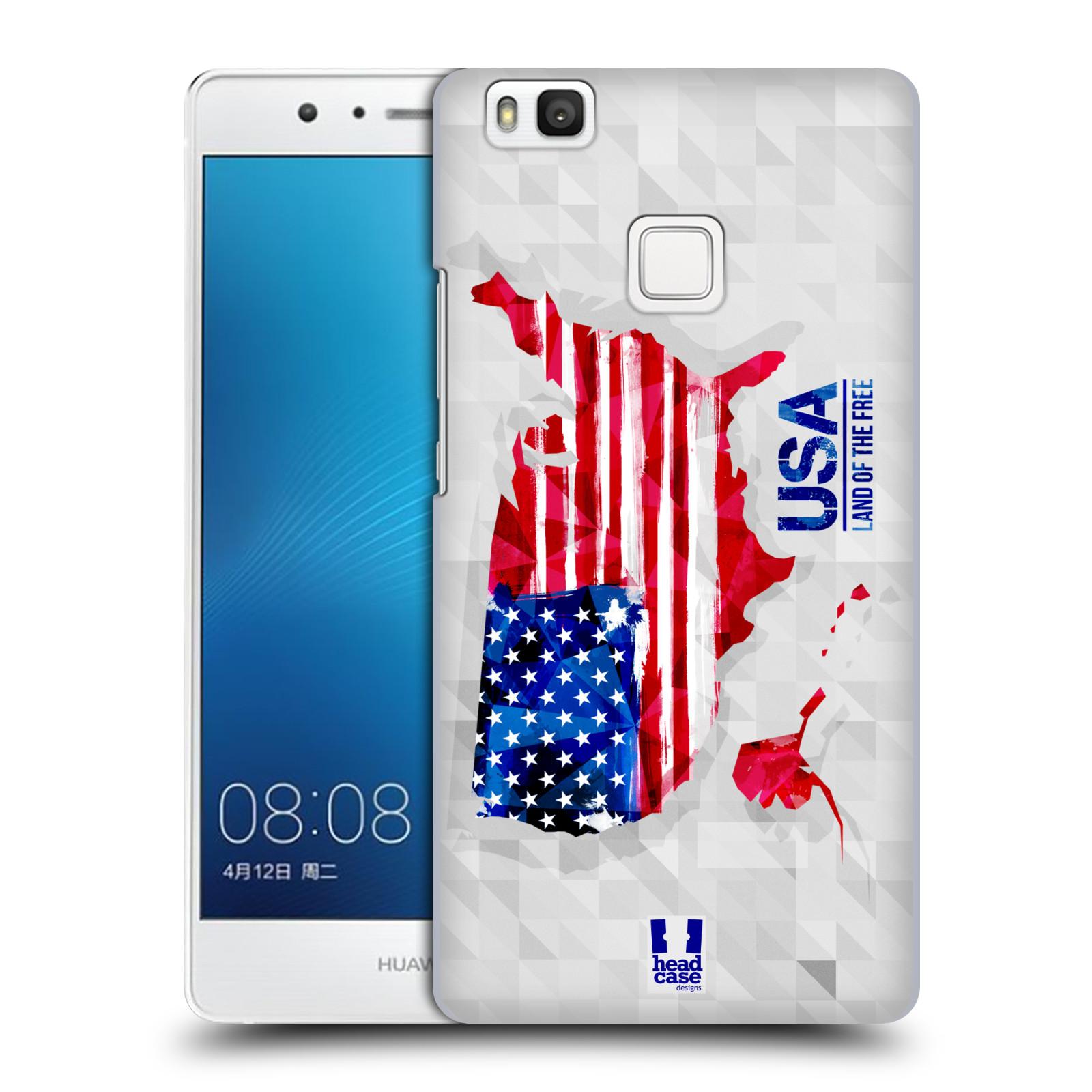 Plastové pouzdro na mobil Huawei P9 Lite HEAD CASE GEOMAPA USA