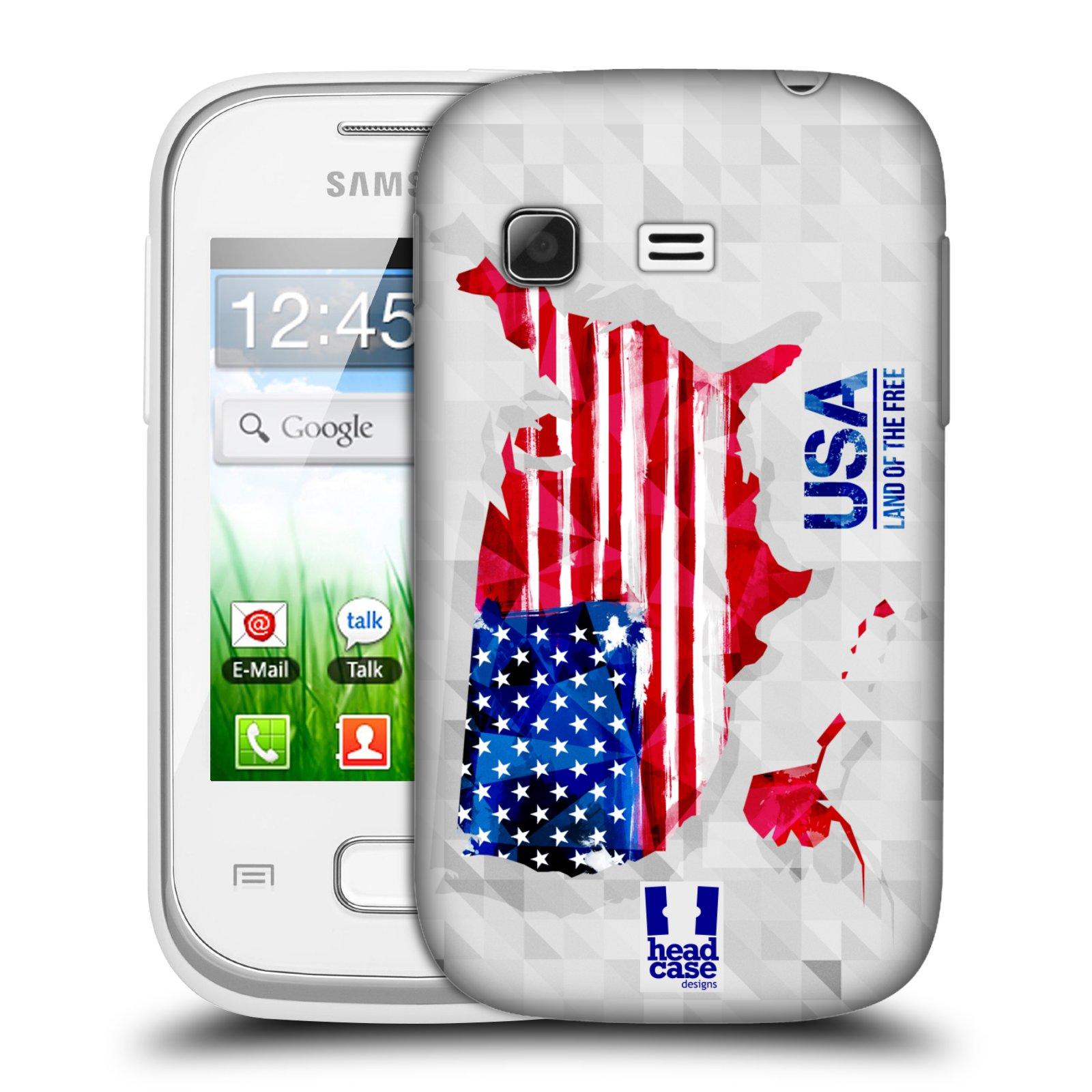 Plastové pouzdro na mobil Samsung Galaxy Pocket HEAD CASE GEOMAPA USA (Kryt či obal na mobilní telefon Samsung Galaxy Pocket GT-S5300)