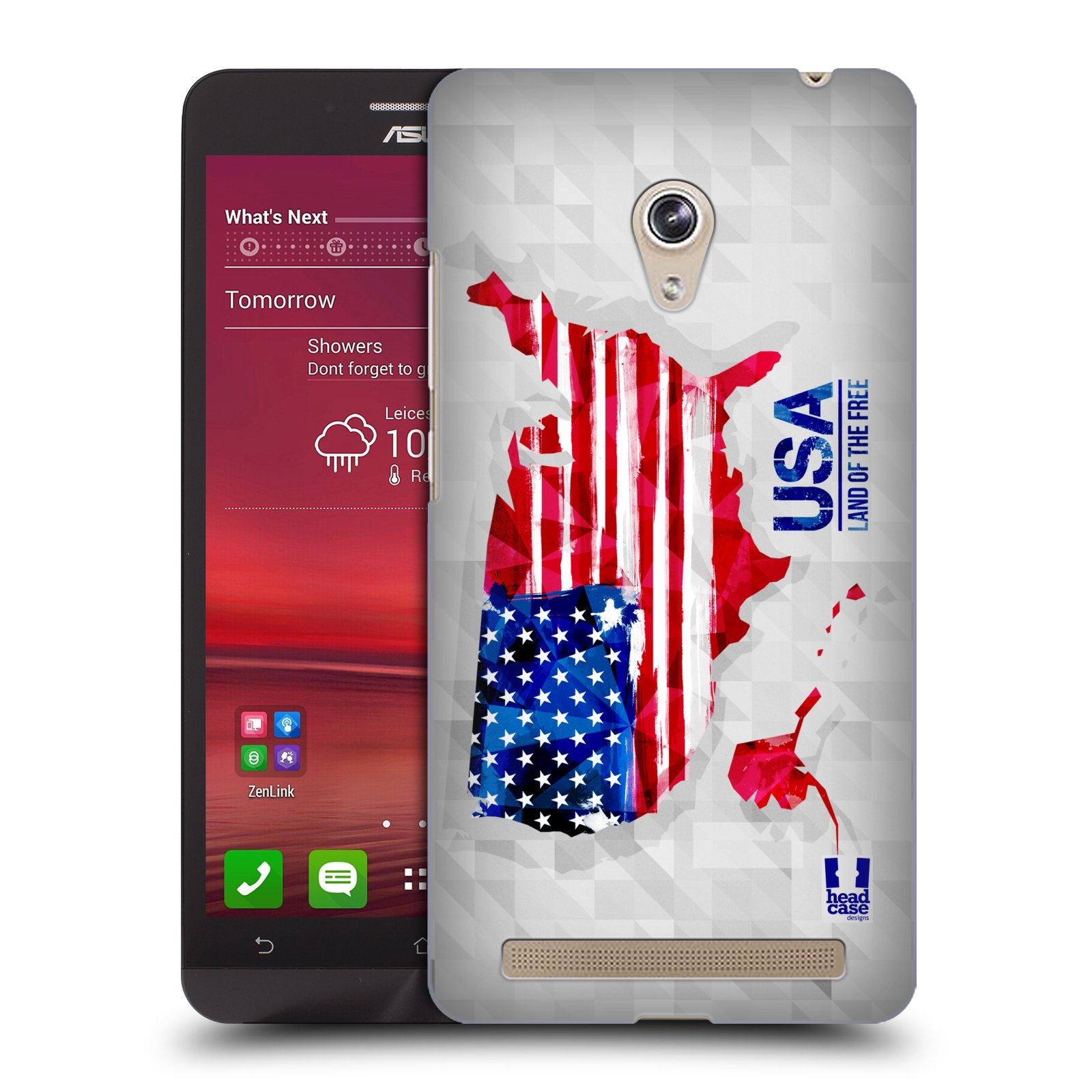 Plastové pouzdro na mobil Asus Zenfone 6 HEAD CASE GEOMAPA USA (Kryt či obal na mobilní telefon Asus Zenfone 6 A600CG / A601CG)