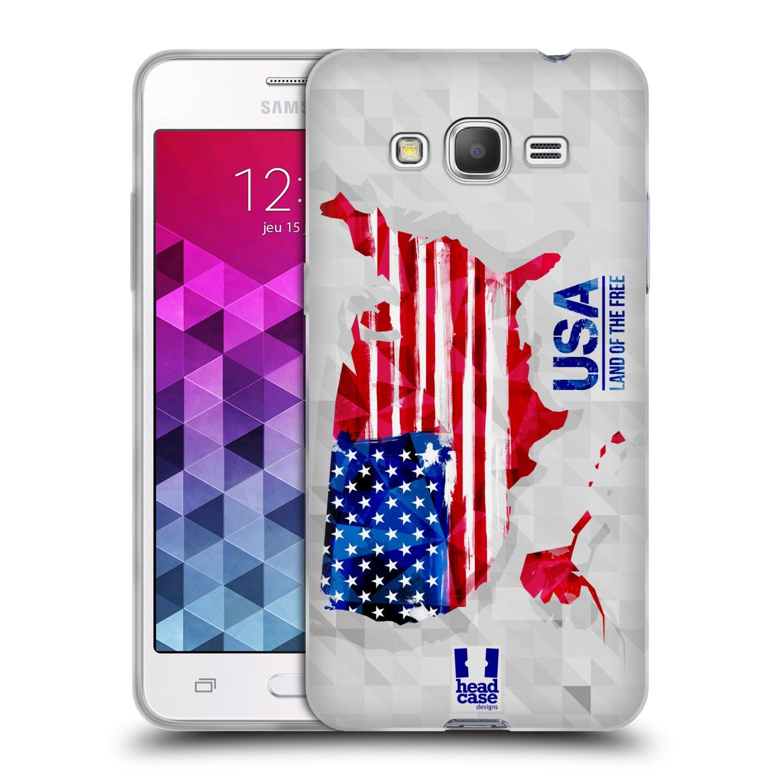 Silikonové pouzdro na mobil Samsung Galaxy Grand Prime VE HEAD CASE GEOMAPA USA (Silikonový kryt či obal na mobilní telefon Samsung Galaxy Grand Prime VE SM-G531F)