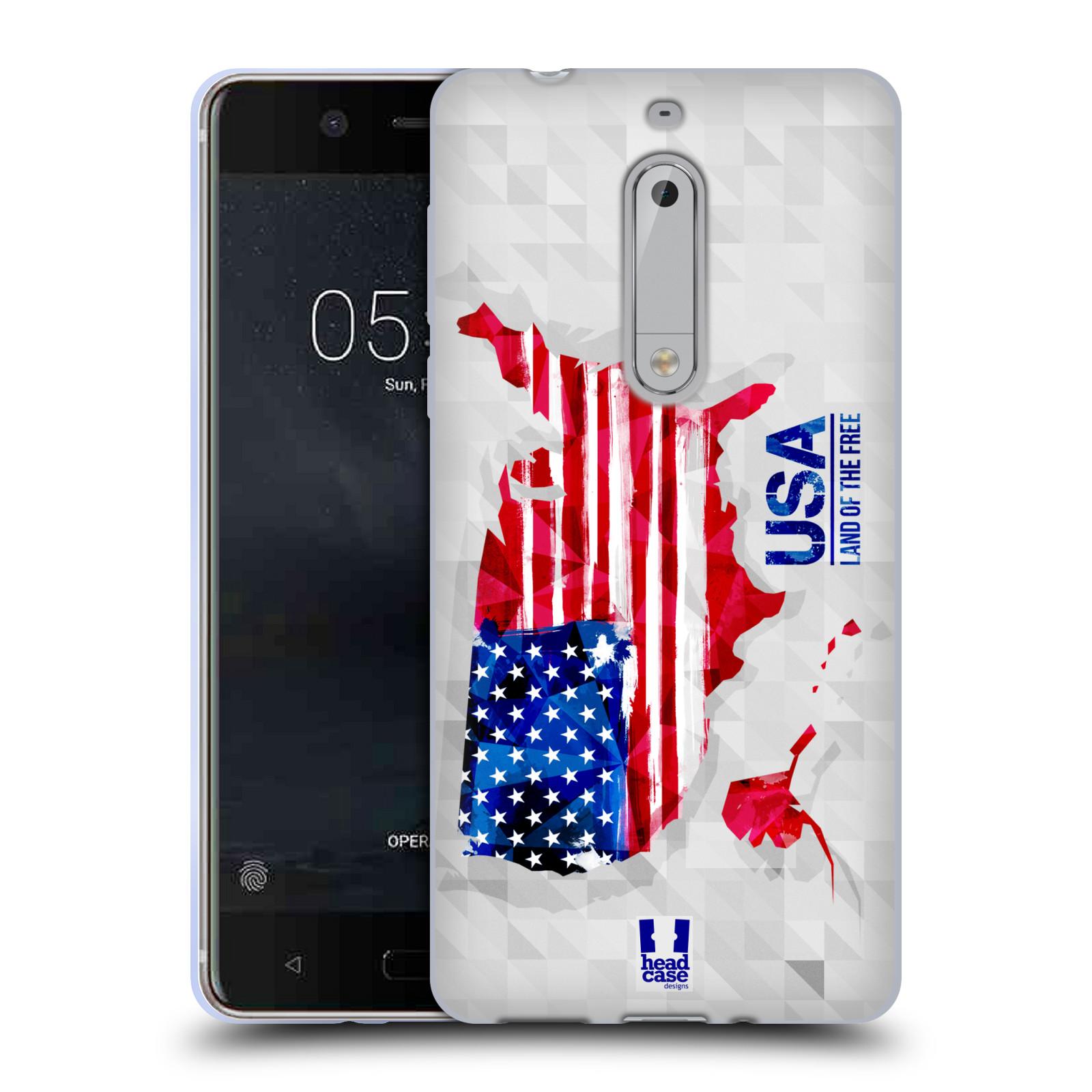 Silikonové pouzdro na mobil Nokia 5 Head Case - GEOMAPA USA