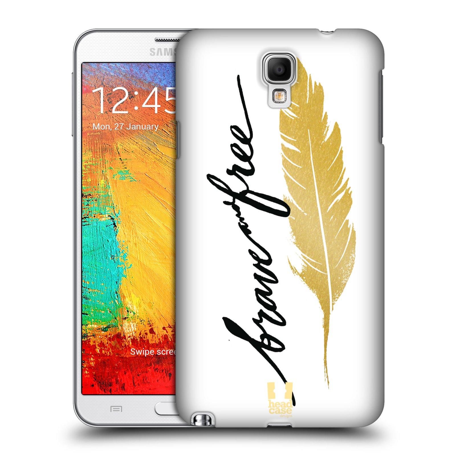 Plastové pouzdro na mobil Samsung Galaxy Note 3 Neo HEAD CASE PÍRKO ZLATÉ FREE (Kryt či obal na mobilní telefon Samsung Galaxy Note 3 Neo SM-N7505)