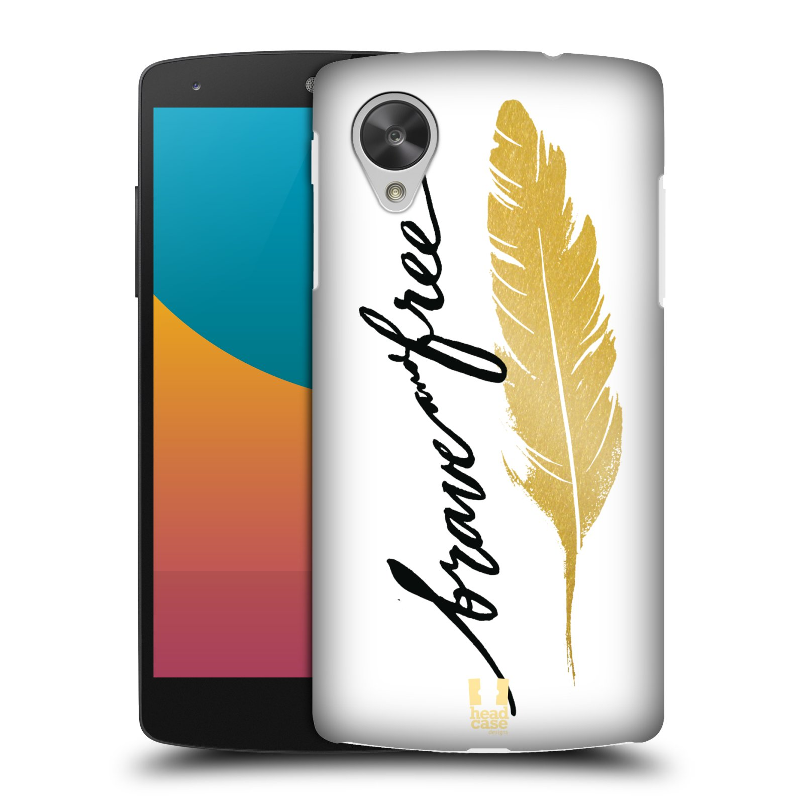 Plastové pouzdro na mobil LG Nexus 5 HEAD CASE PÍRKO ZLATÉ FREE (Kryt či obal na mobilní telefon LG Google Nexus 5 D821)