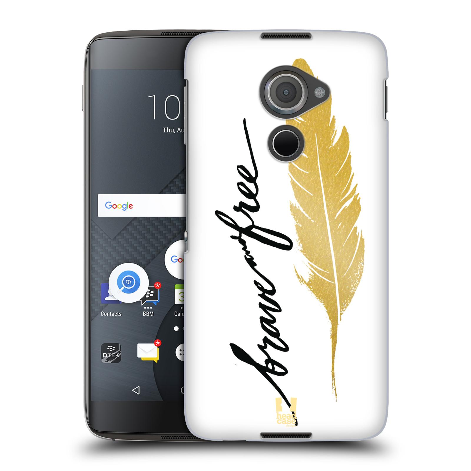 Plastové pouzdro na mobil Blackberry DTEK60 (Argon) - Head Case PÍRKO ZLATÉ FREE (Plastový kryt či obal na mobilní telefon Blackberry DTEK60 (Argon))