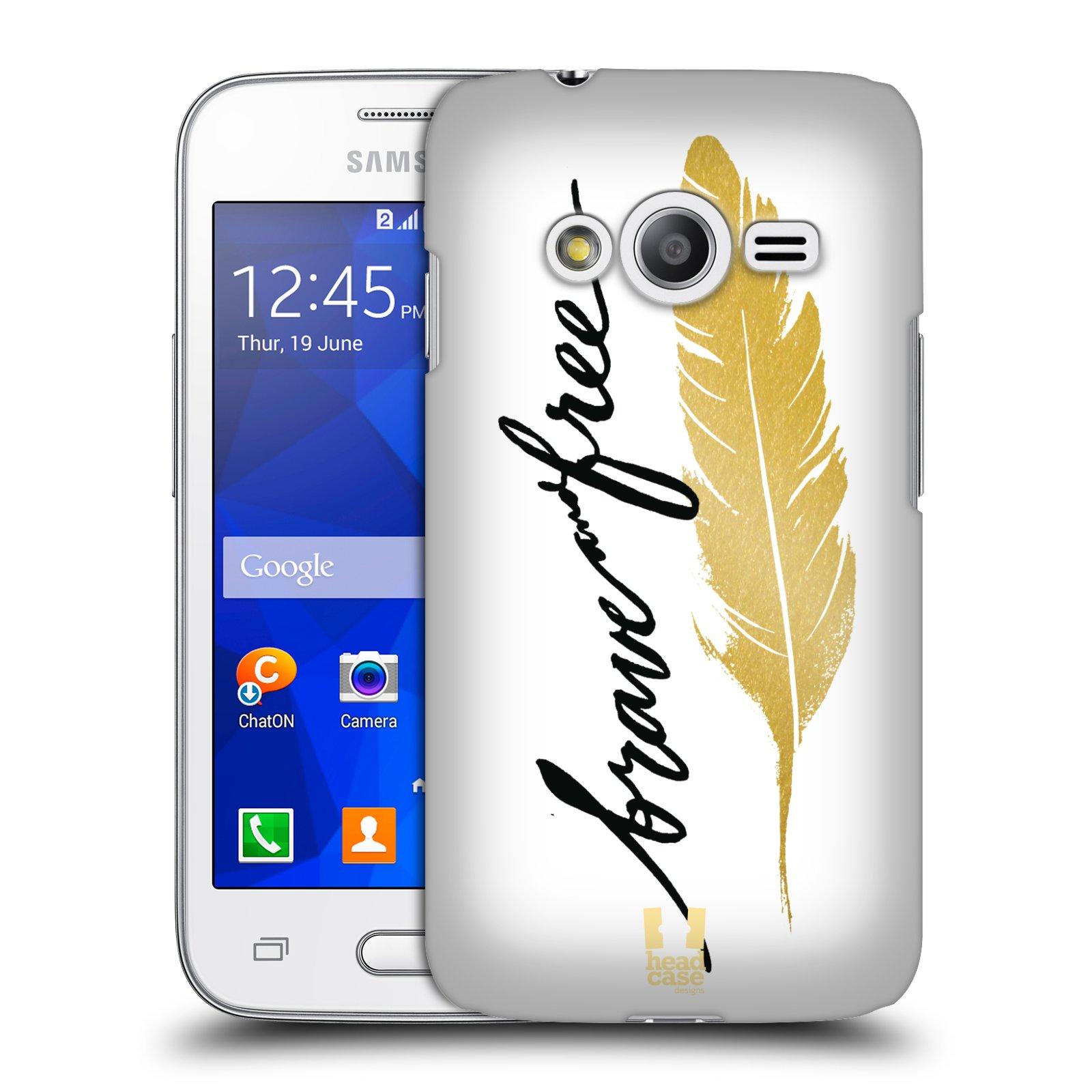Plastové pouzdro na mobil Samsung Galaxy Trend 2 Lite HEAD CASE PÍRKO ZLATÉ FREE (Kryt či obal na mobilní telefon Samsung Galaxy Trend 2 Lite SM-G318)