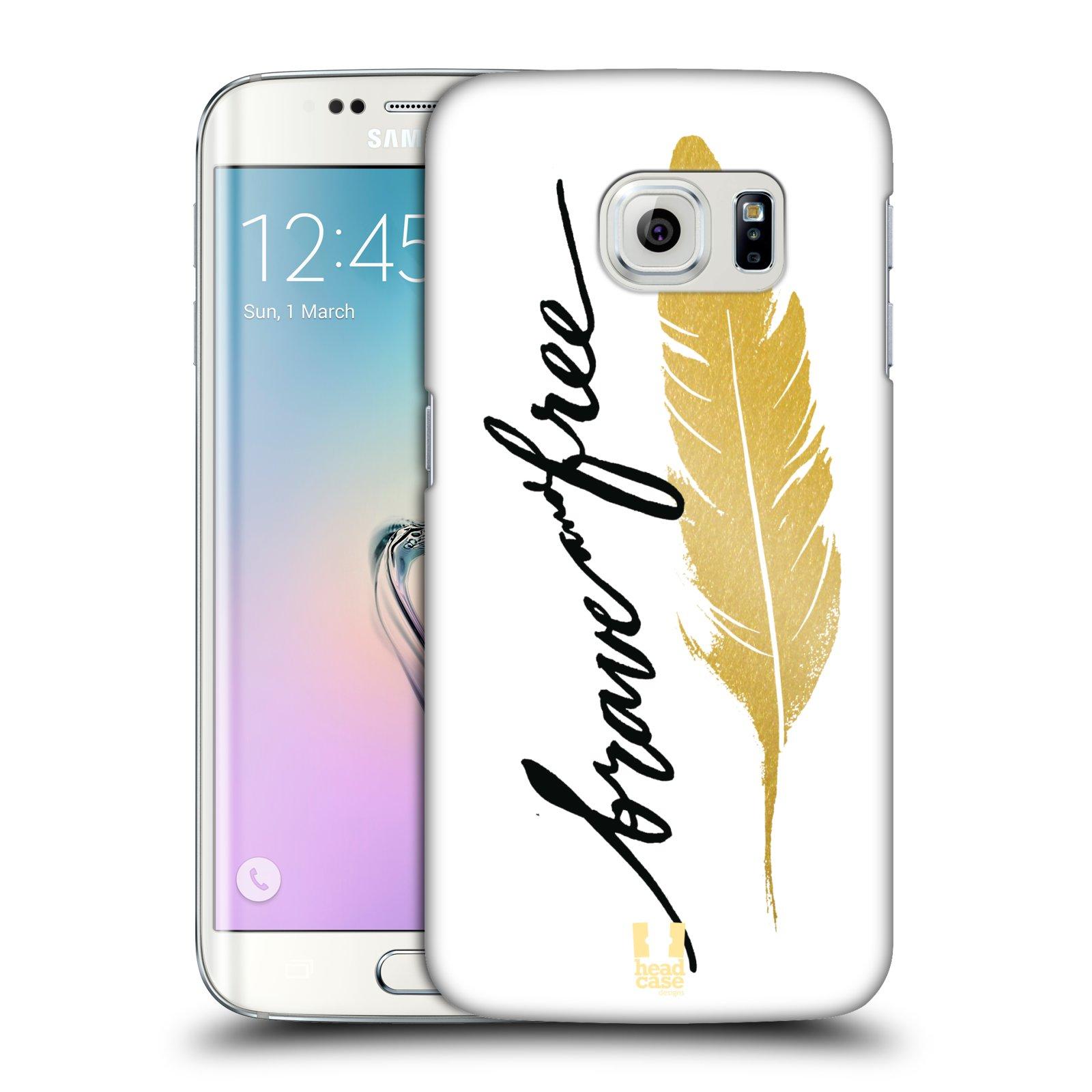 Plastové pouzdro na mobil Samsung Galaxy S6 Edge HEAD CASE PÍRKO ZLATÉ FREE (Kryt či obal na mobilní telefon Samsung Galaxy S6 Edge SM-G925F)