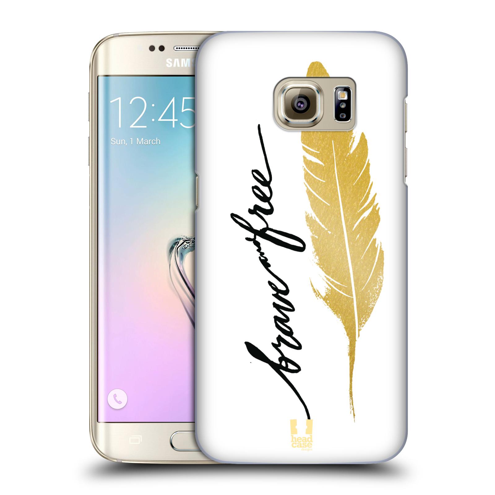 Plastové pouzdro na mobil Samsung Galaxy S7 Edge HEAD CASE PÍRKO ZLATÉ FREE (Kryt či obal na mobilní telefon Samsung Galaxy S7 Edge SM-G935F)