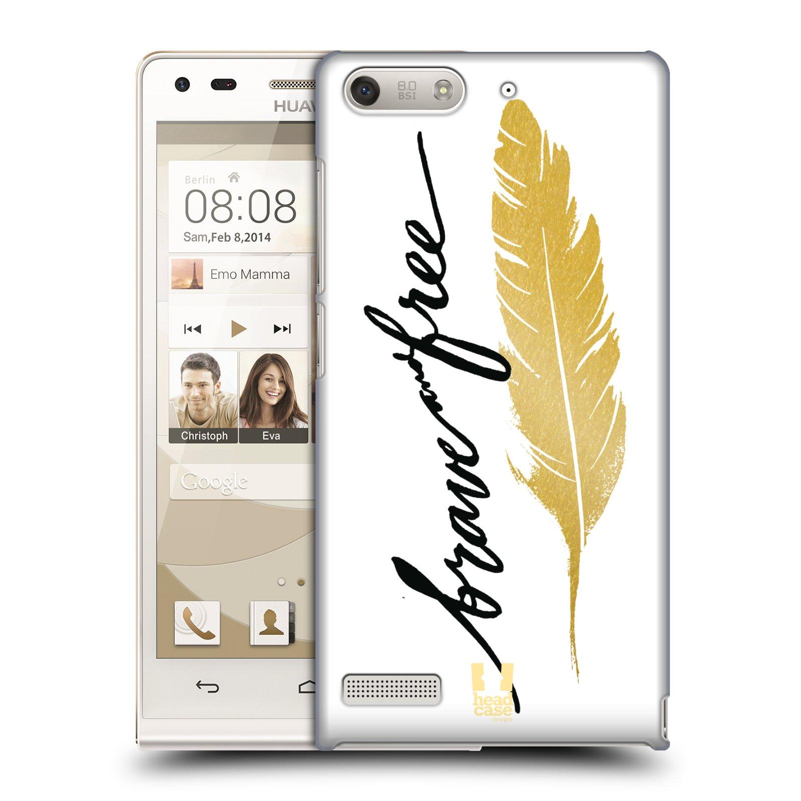 Plastové pouzdro na mobil Huawei Ascend G6 HEAD CASE PÍRKO ZLATÉ FREE (Kryt či obal na mobilní telefon Huawei Ascend G6 bez LTE)