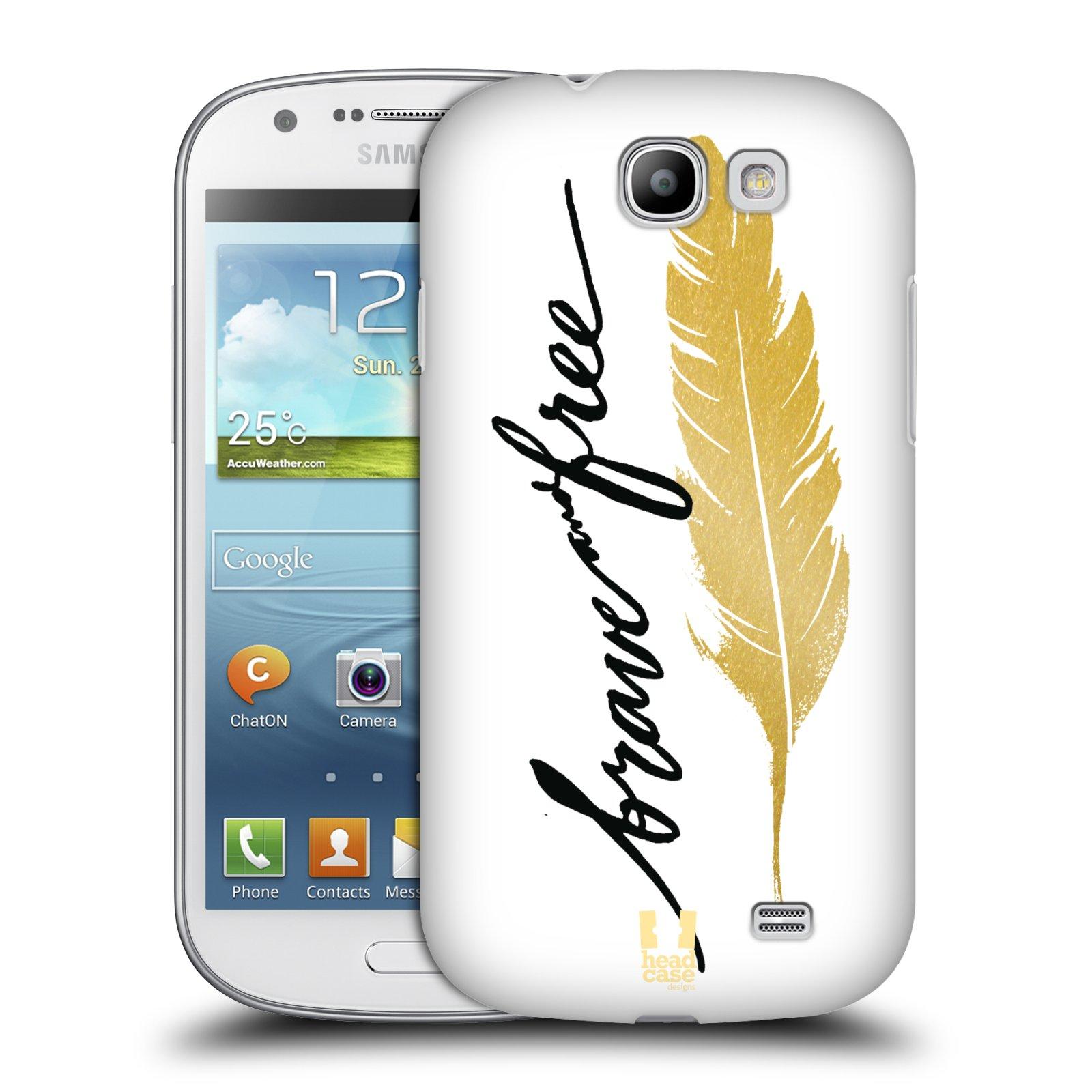 Plastové pouzdro na mobil Samsung Galaxy Express HEAD CASE PÍRKO ZLATÉ FREE (Kryt či obal na mobilní telefon Samsung Galaxy Express GT-i8730)