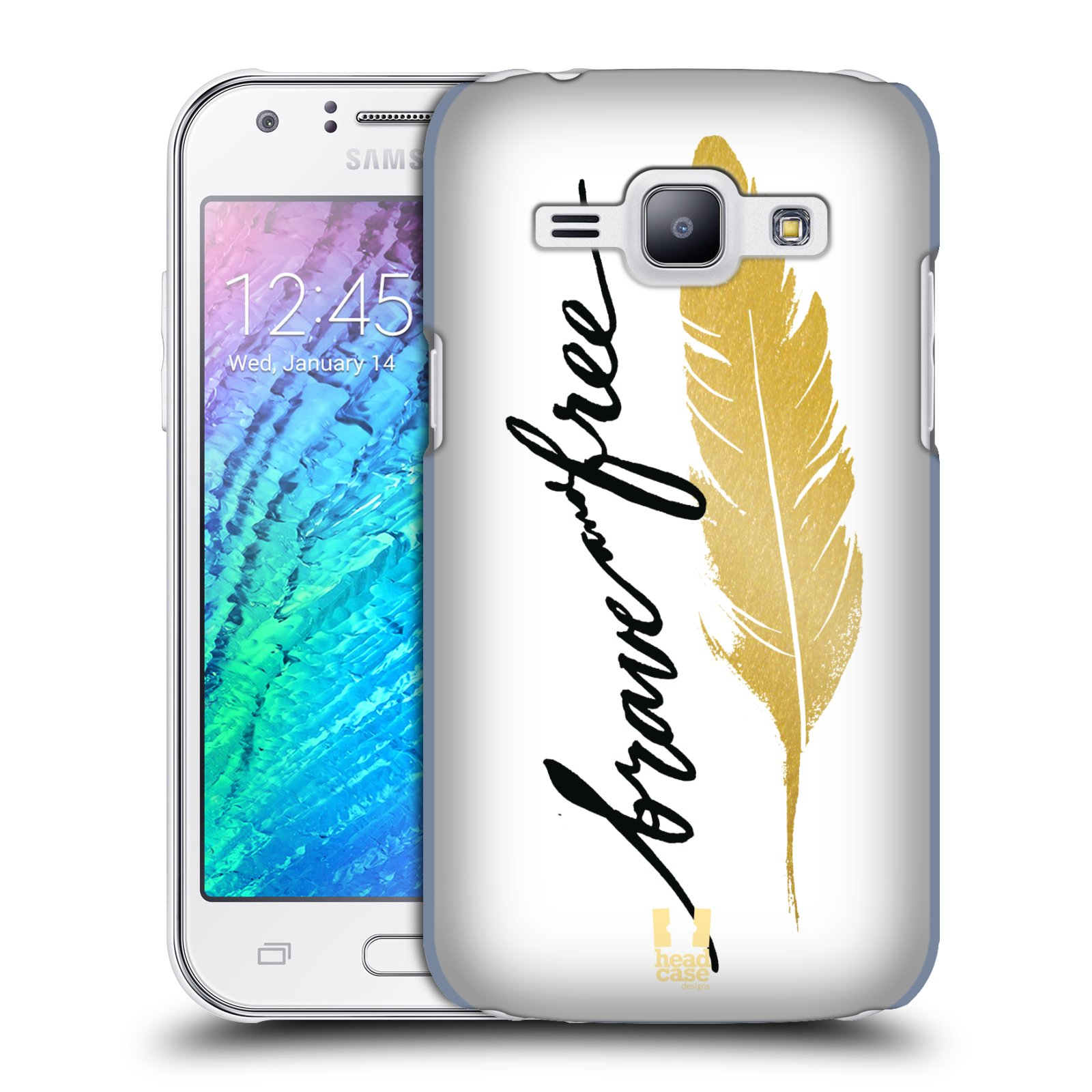 Plastové pouzdro na mobil Samsung Galaxy J1 HEAD CASE PÍRKO ZLATÉ FREE (Kryt či obal na mobilní telefon Samsung Galaxy J1 a J1 Duos )