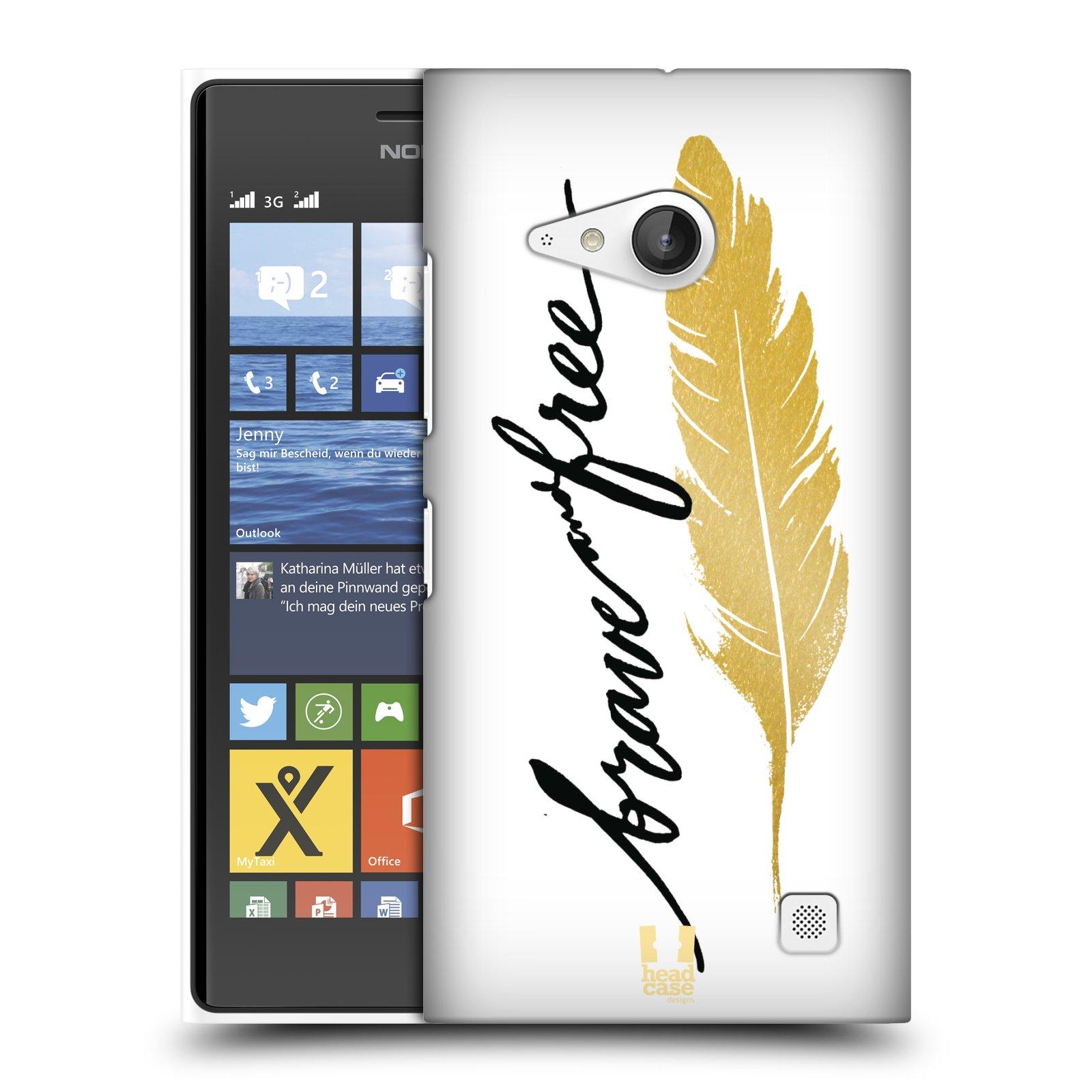 Plastové pouzdro na mobil Nokia Lumia 730 Dual SIM HEAD CASE PÍRKO ZLATÉ FREE (Kryt či obal na mobilní telefon Nokia Lumia 730 Dual SIM)