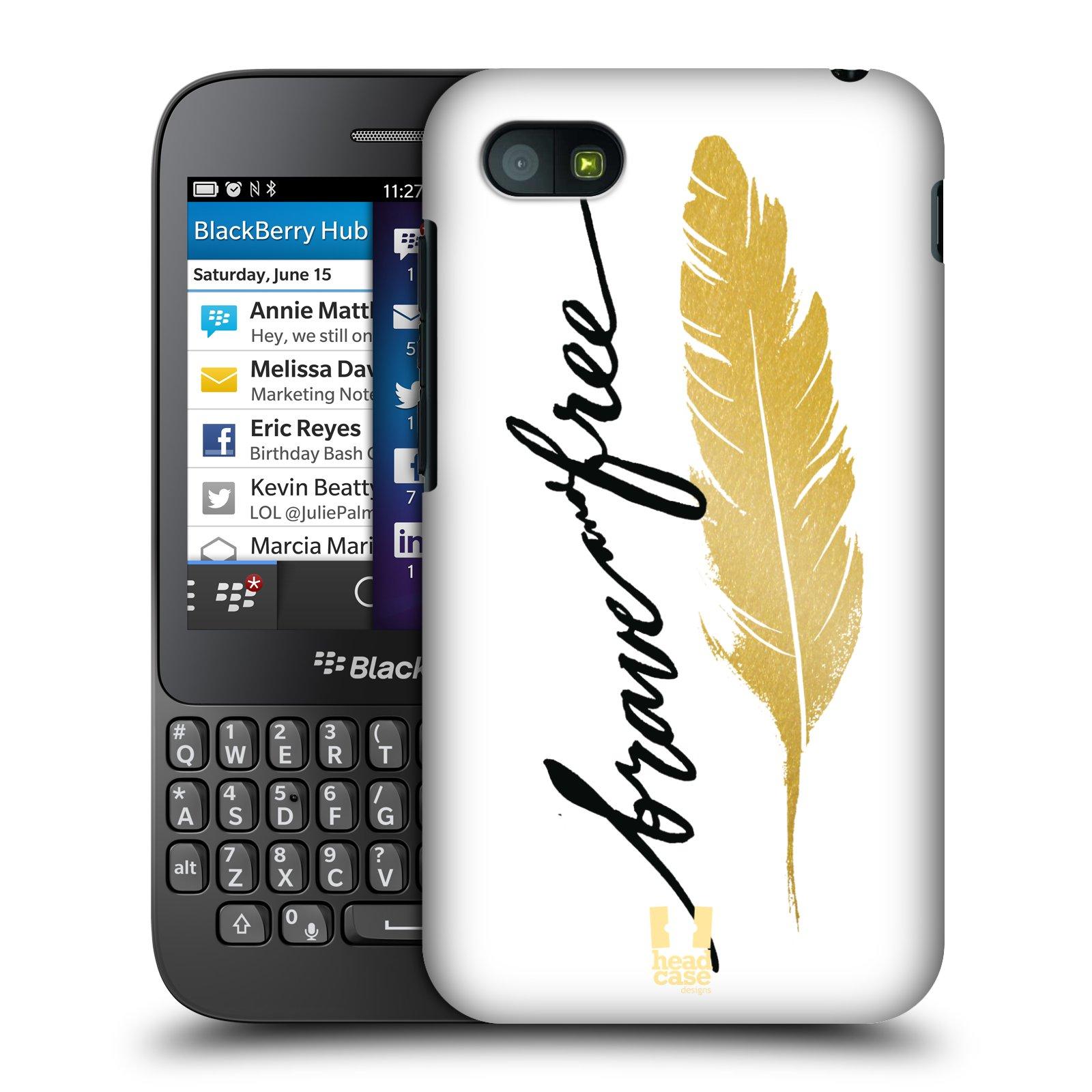 Plastové pouzdro na mobil Blackberry Q5 HEAD CASE PÍRKO ZLATÉ FREE (Kryt či obal na mobilní telefon Blackberry Q5)