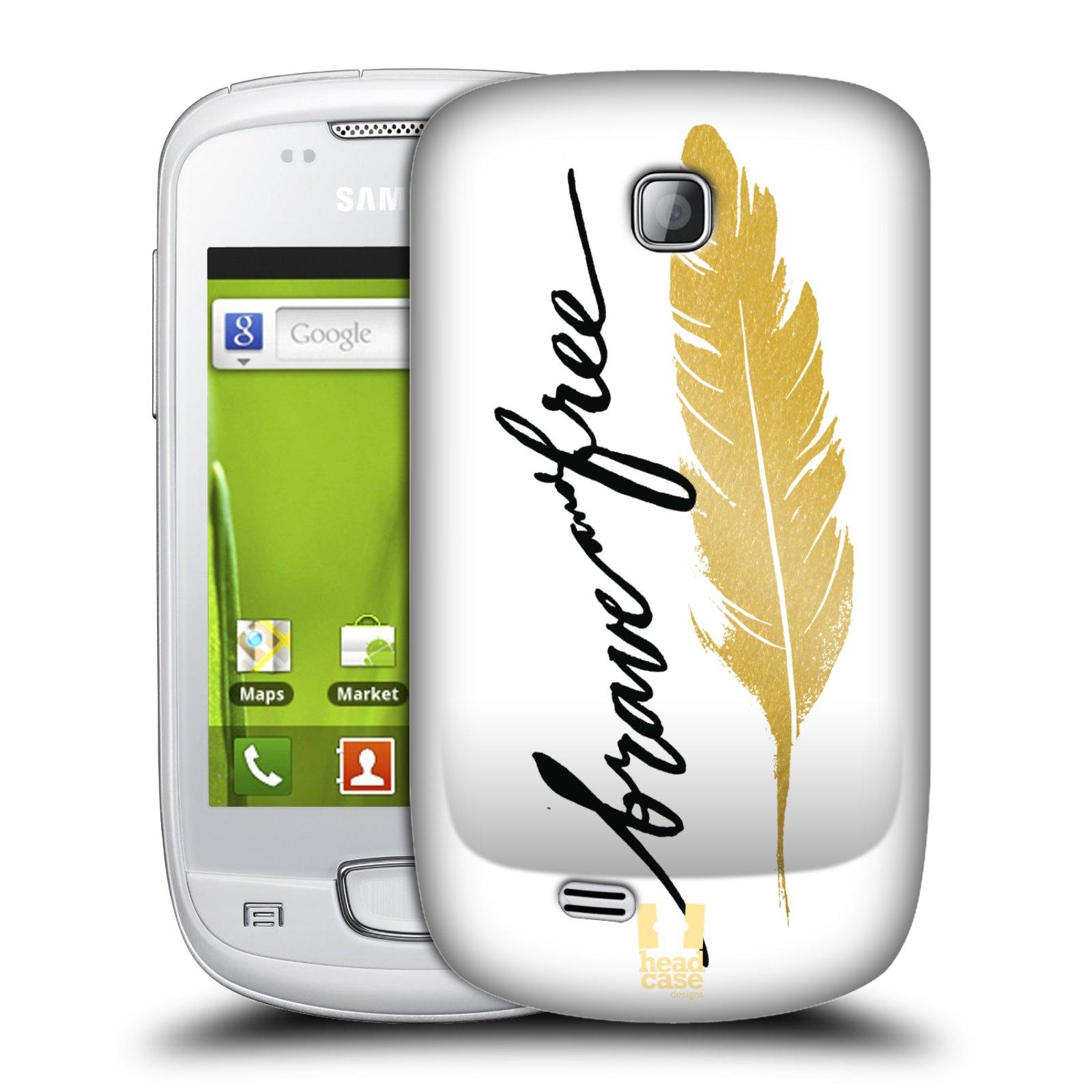 Plastové pouzdro na mobil Samsung Galaxy Mini HEAD CASE PÍRKO ZLATÉ FREE (Kryt či obal na mobilní telefon Samsung Galaxy Mini GT-S5570 / GT-S5570i)